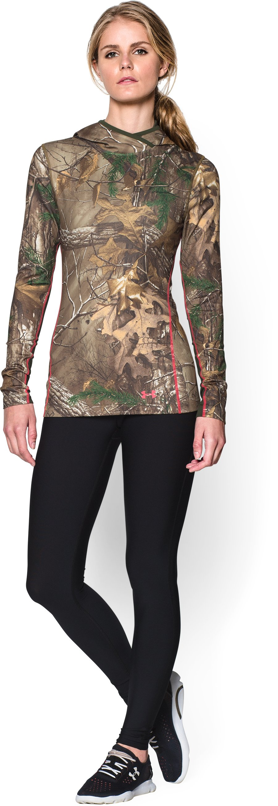 Women's ColdGear® Infrared EVO Hoodie, REALTREE AP-XTRA, Front