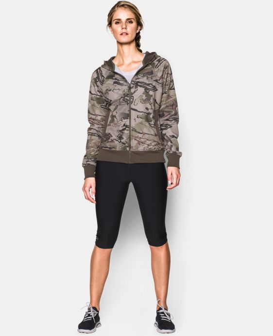 Women's UA Camo Full-Zip Hoodie LIMITED TIME: FREE U.S. SHIPPING 3 Colors $47.99 to $50.99