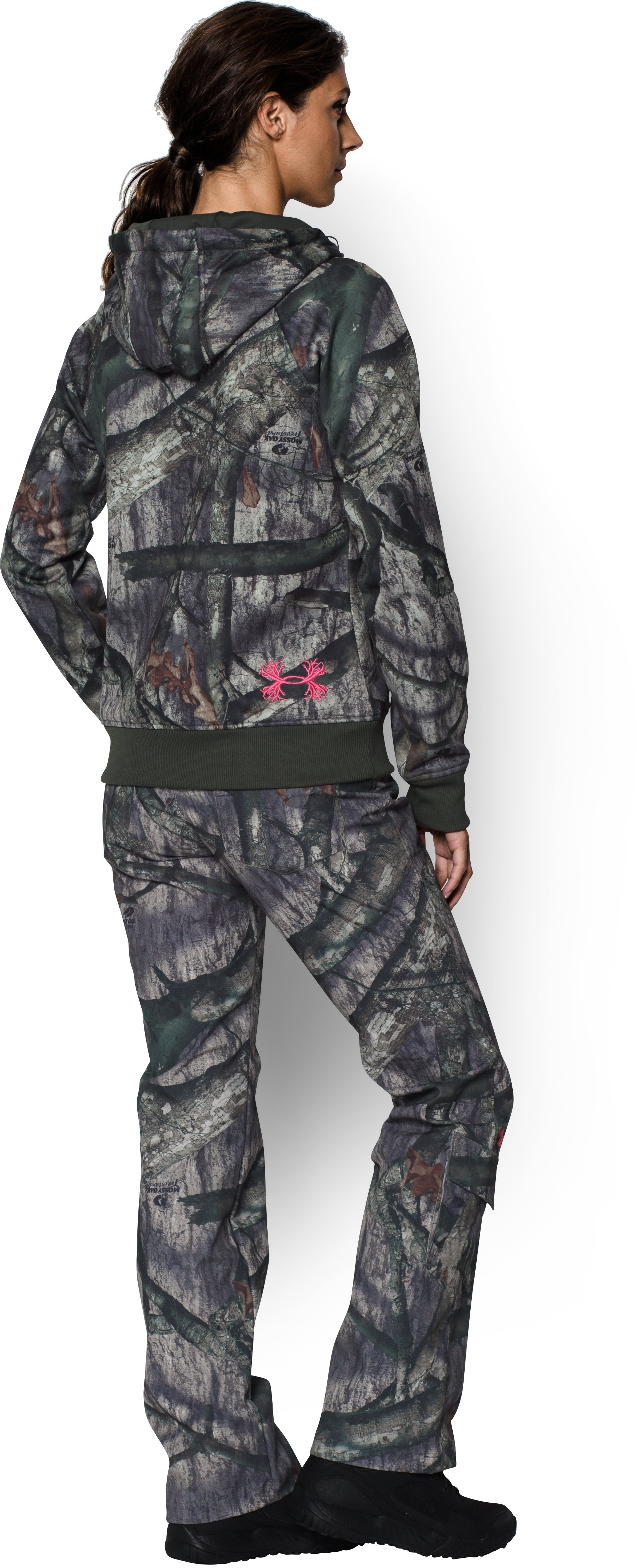 Women's UA Camo Full-Zip Hoodie, Mossy Oak Treestand, Back
