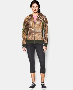 Women's UA Camo Full-Zip Hoodie  1 Color $50.99