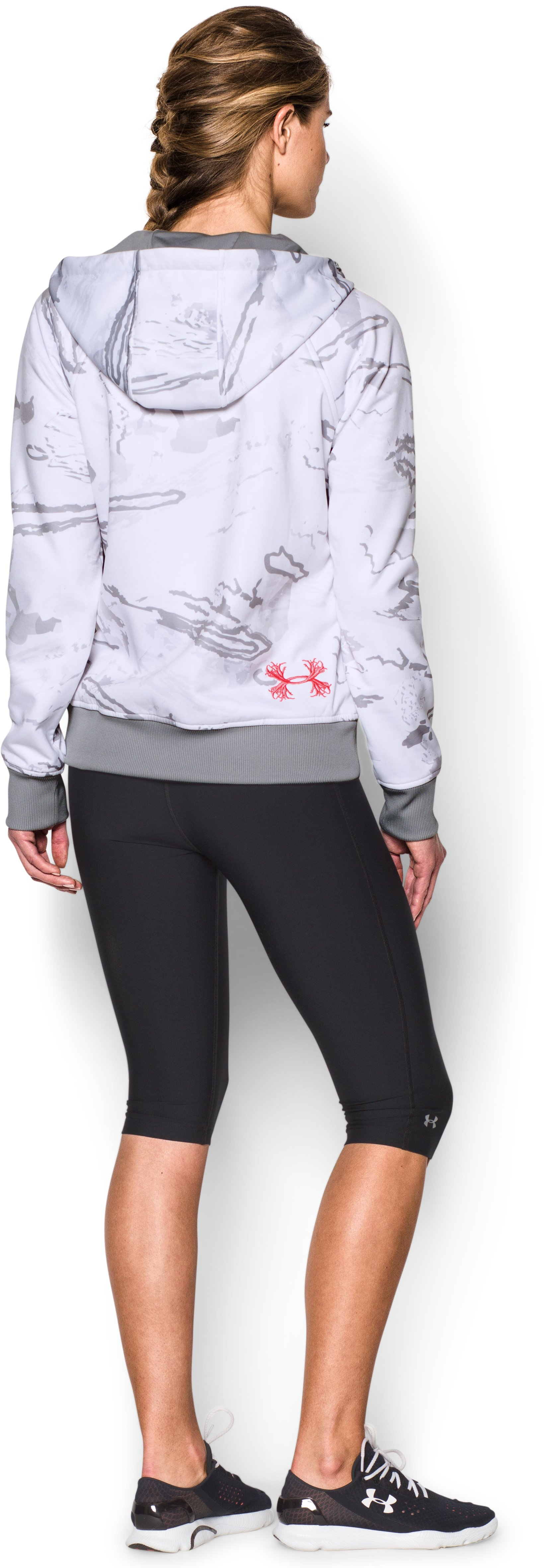 Women's  UA Camo Full-Zip Hoodie, RIDGE REAPER® SNOW, Back