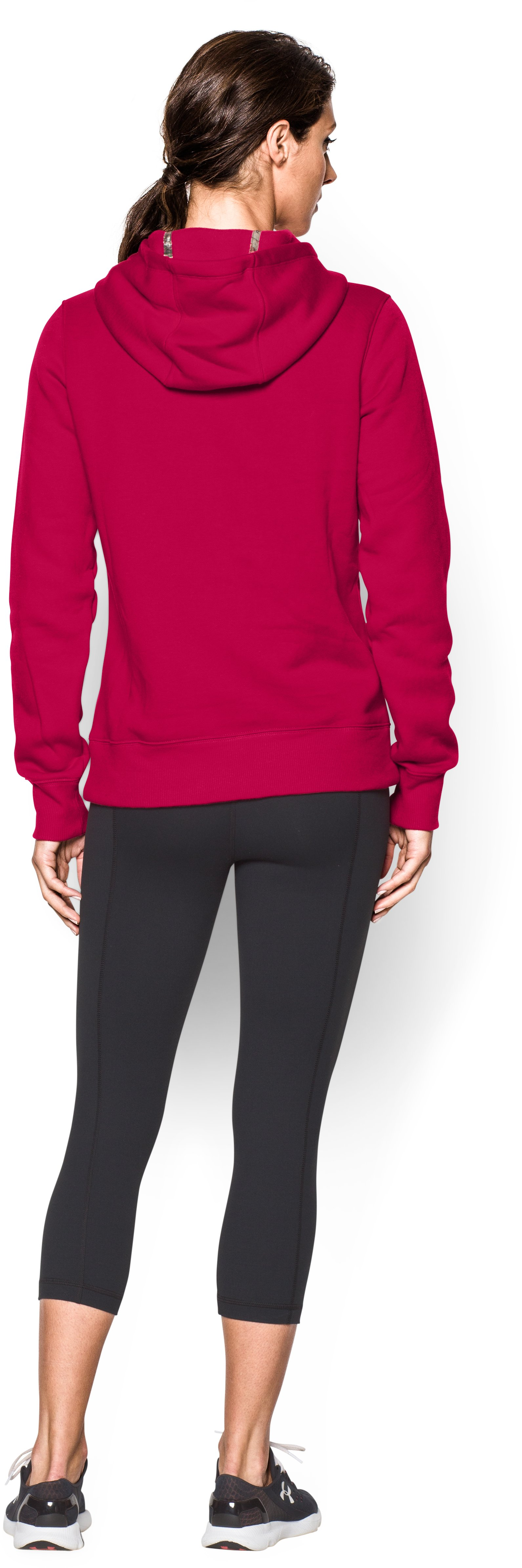 Women's UA Established Hoodie, Fury, Back