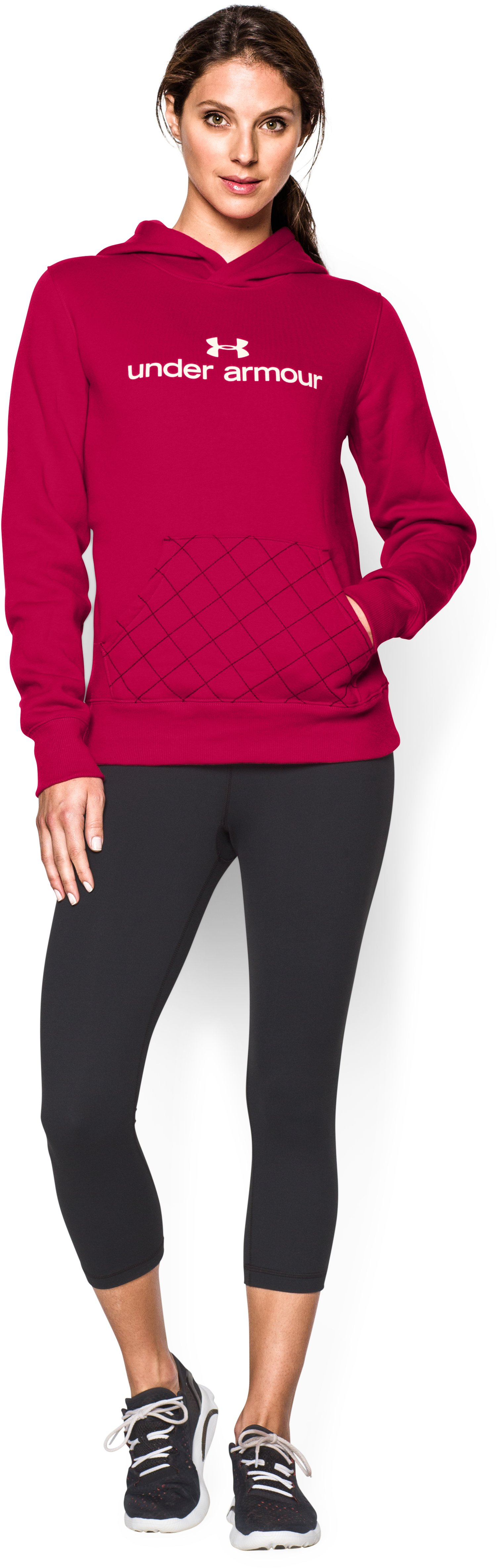 Women's UA Established Hoodie, Fury, Front