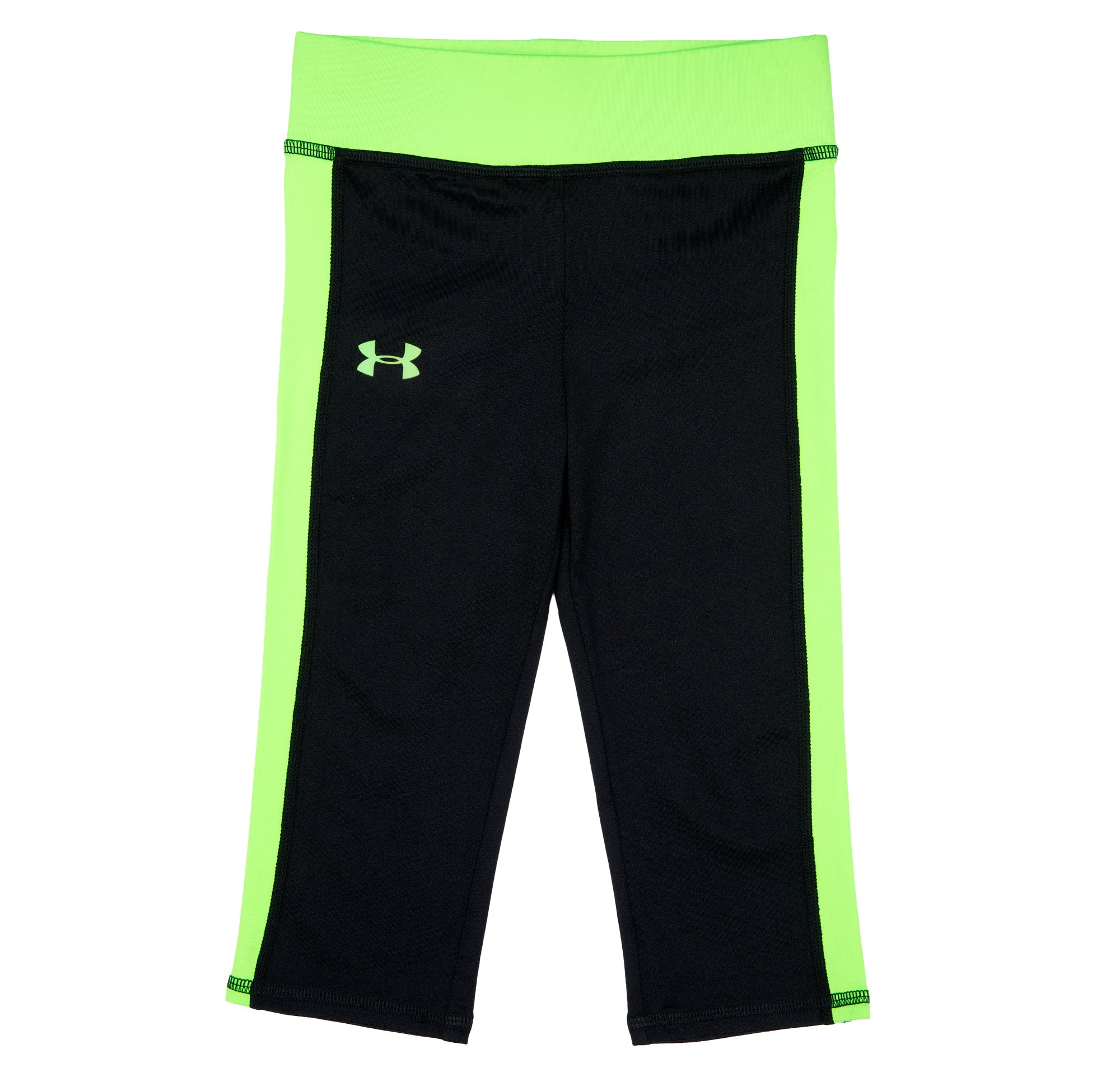 Girls' Pre-School UA Play On Capri, HYPER GREEN, Laydown