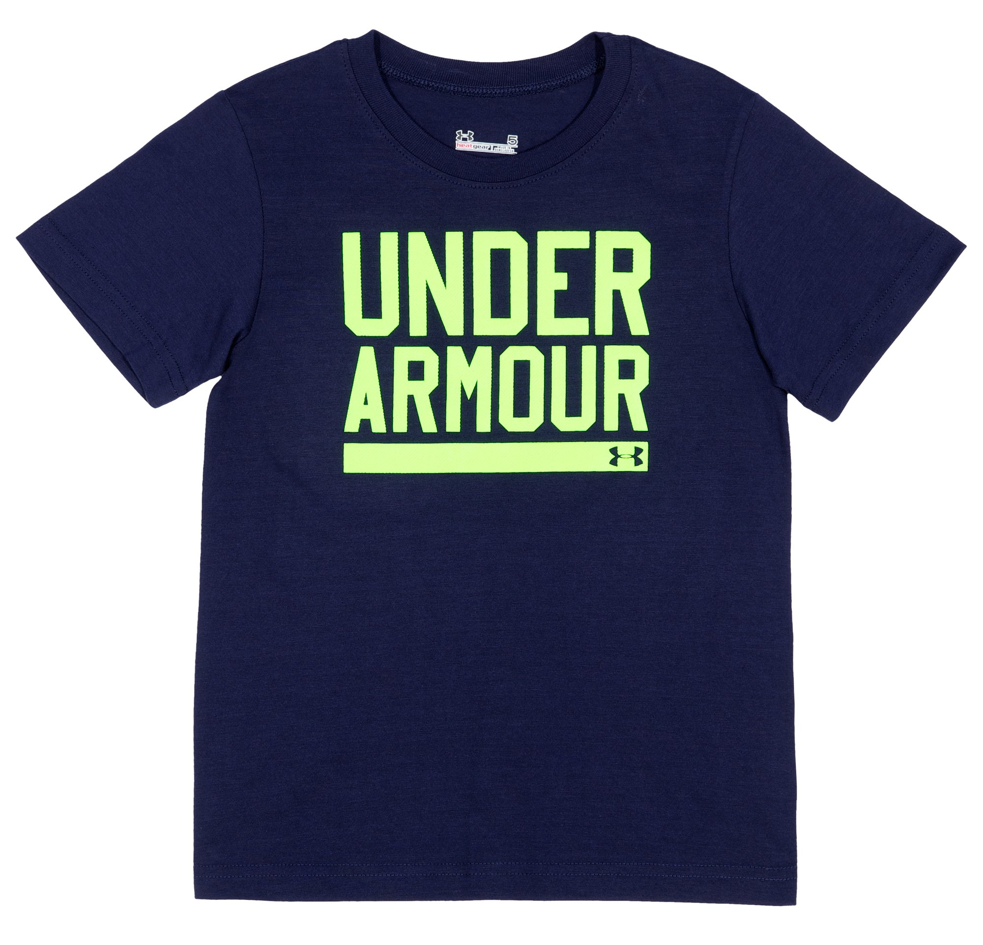 Boys' Pre-School UA Branded T-Shirt, Midnight Navy, Laydown