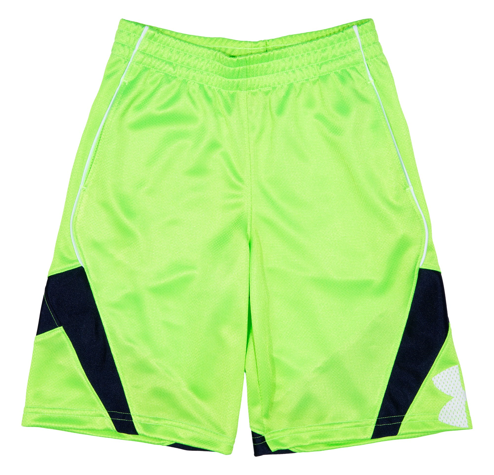 Boys' Pre-School UA Jhawk Shorts, HYPER GREEN, Laydown