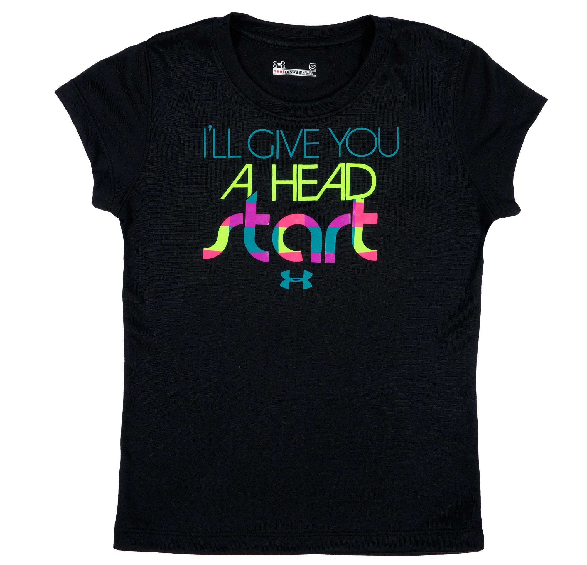 Girls' Toddler UA Head Start T-Shirt, Black , Laydown