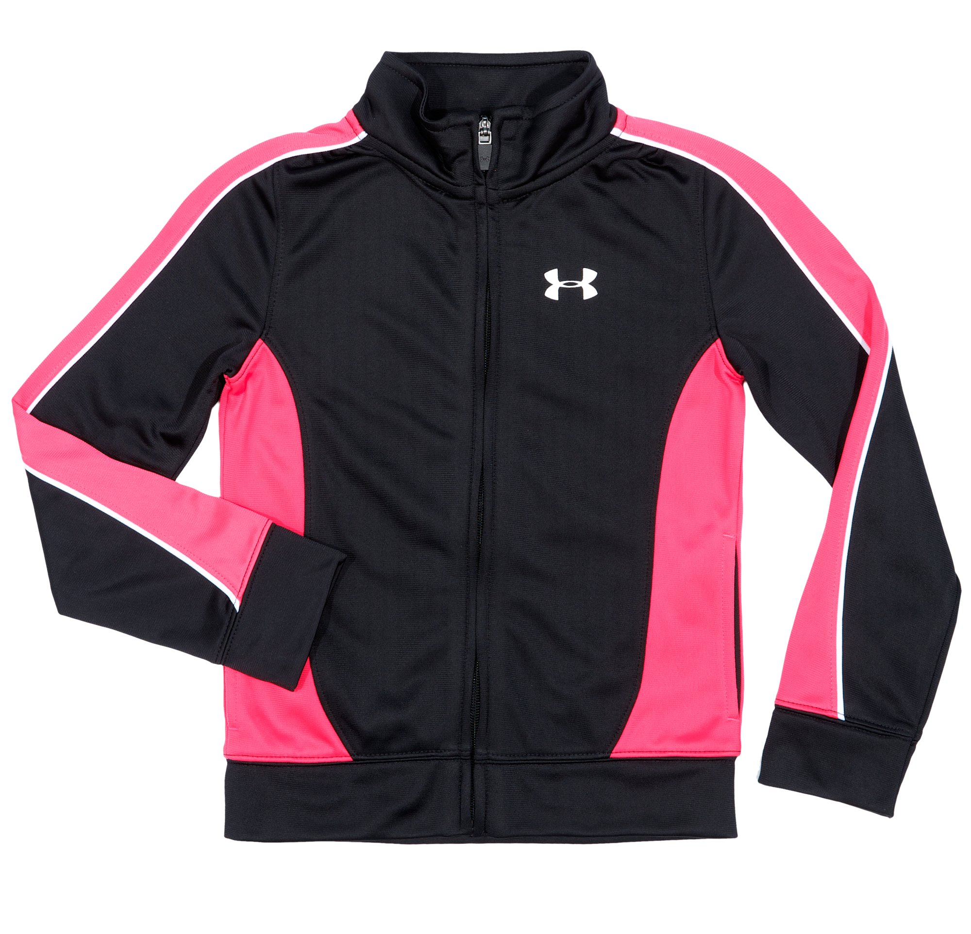 Girls' Toddler UA Winner's Circle Track Jacket, Black , Laydown