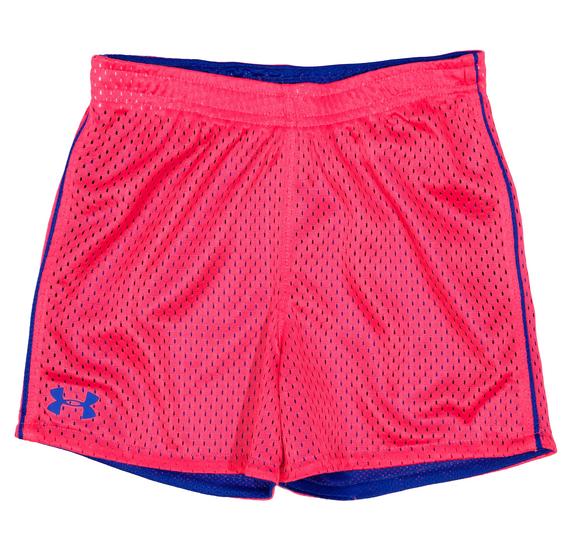 Girls' Toddler UA Reversible Mesh Shorts, BLU-AWAY, Laydown