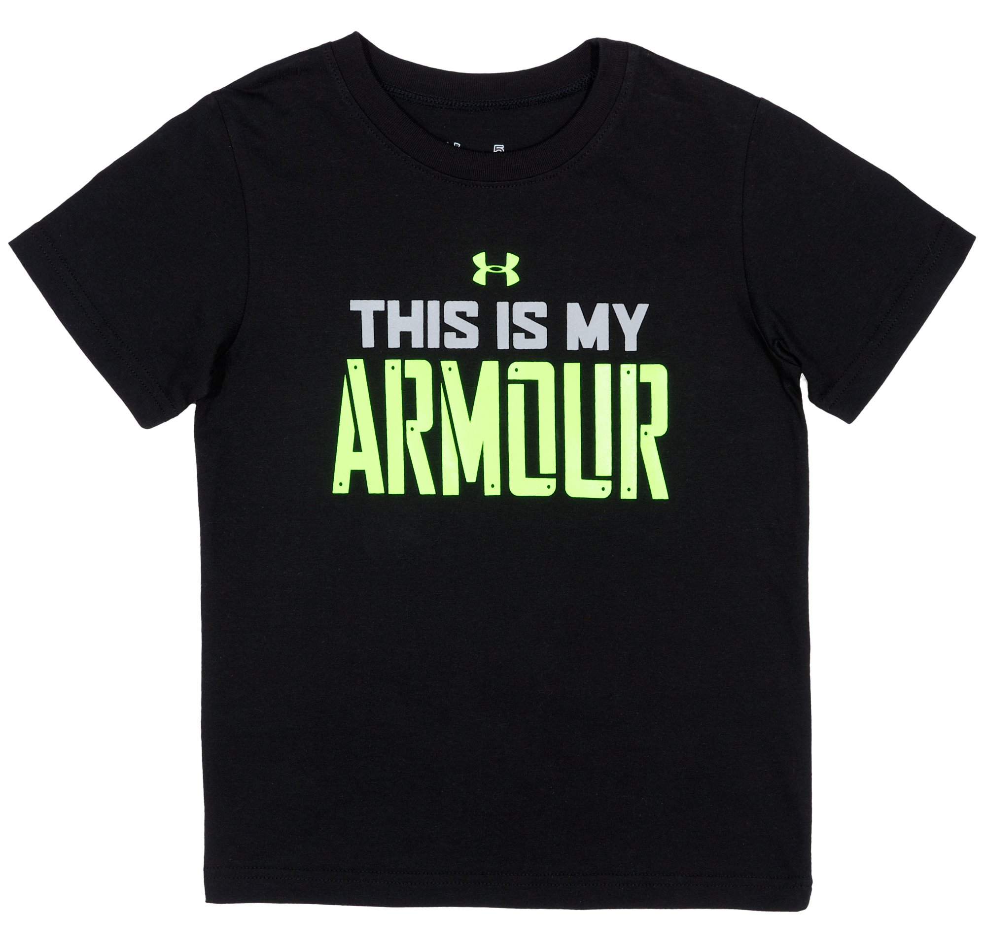 Boys' Toddler My Armour™ T-Shirt, Black , Laydown