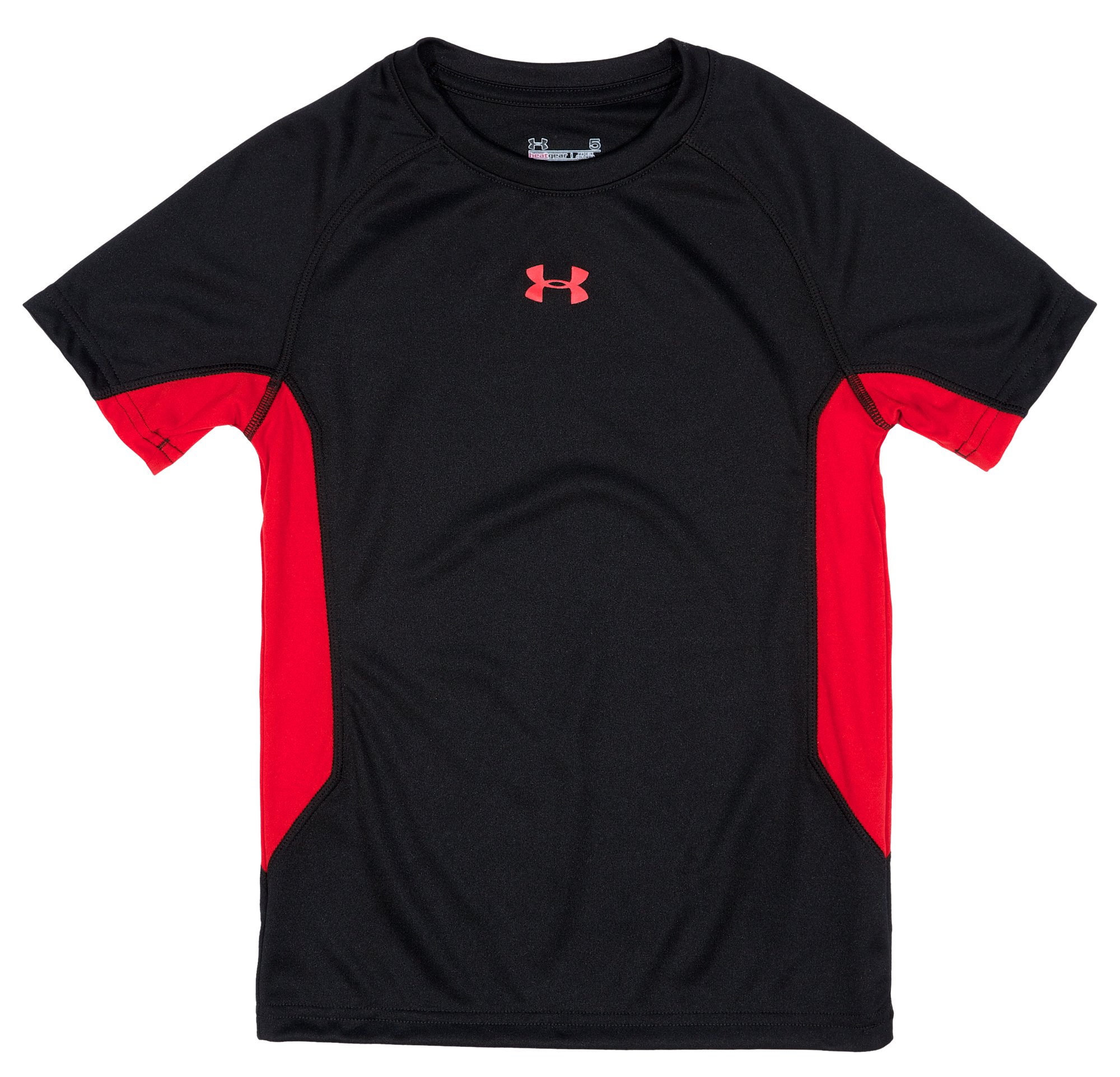 Boys' Toddler UA Scrimmage T-Shirt, Black , Laydown
