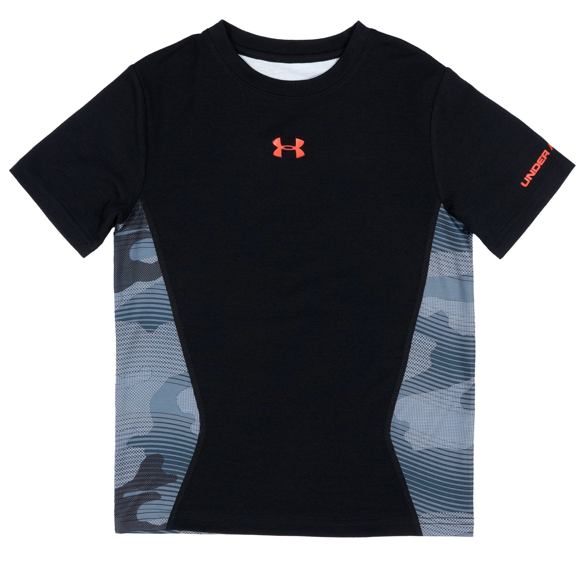 Boys' Toddler UA Future Camo T-Shirt, Black , Laydown