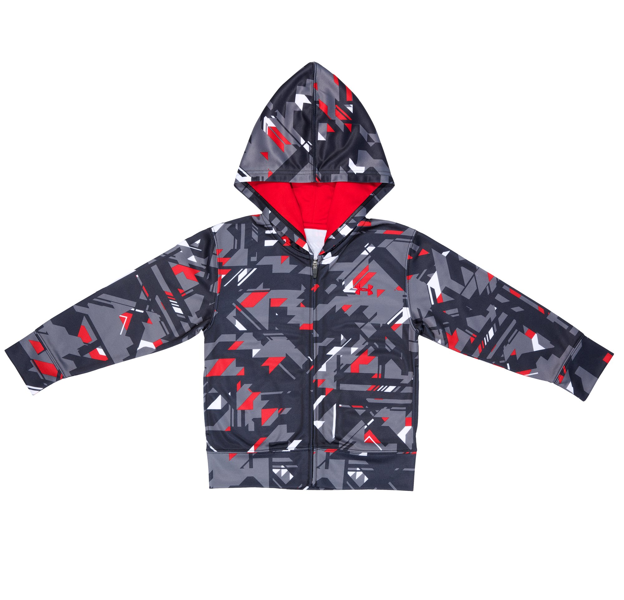 Boys' Toddler UA Edge Camo Hoodie, Black , Laydown