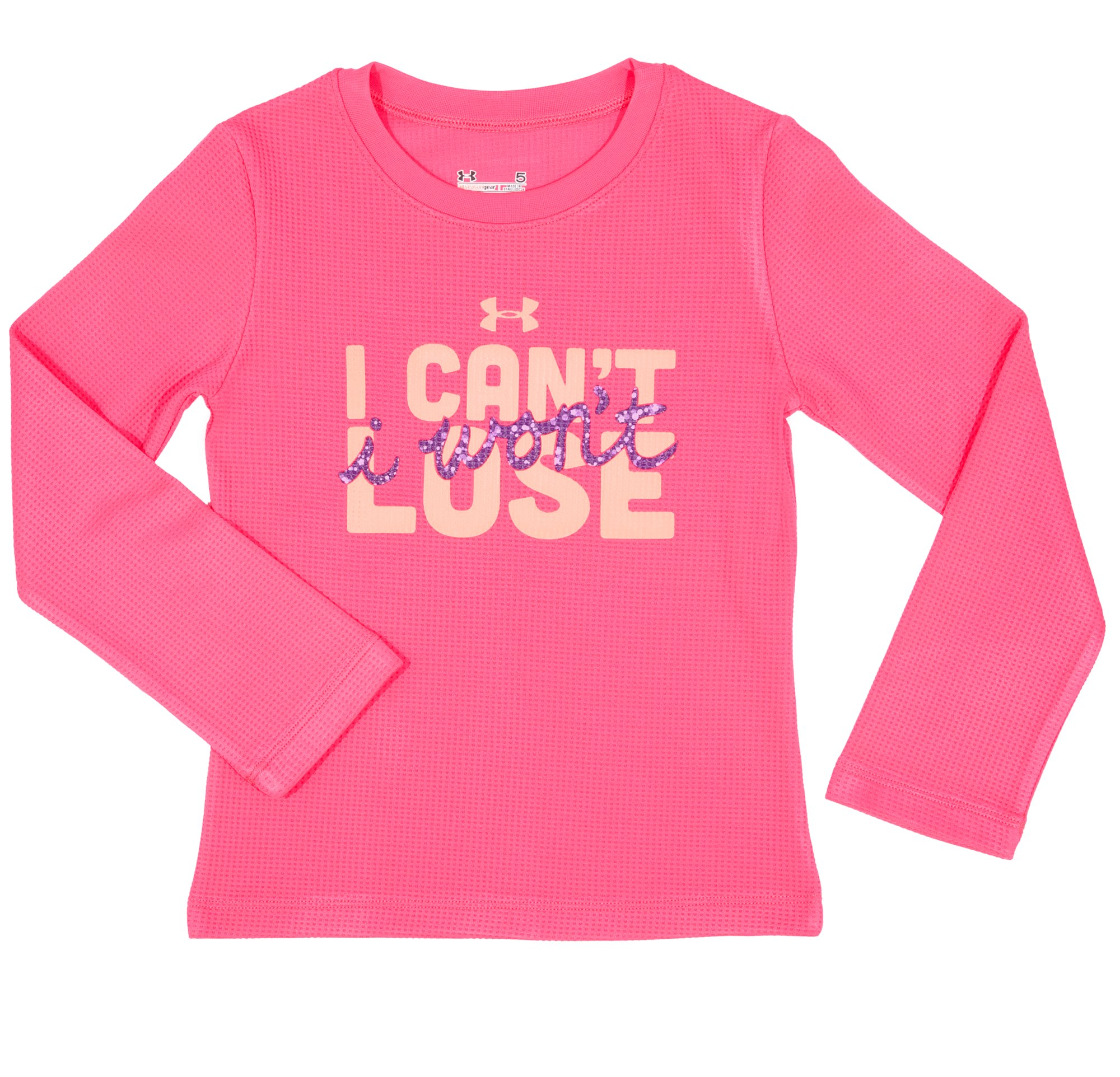 Girls' Infant UA Can't Lose Longsleeve, PINKADELIC, Laydown