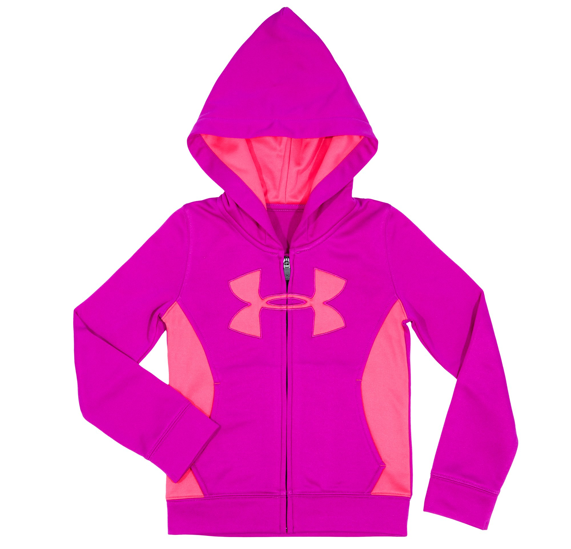 Girls' Infant UA Big Logo Full Zip Hoodie, STROBE, Laydown