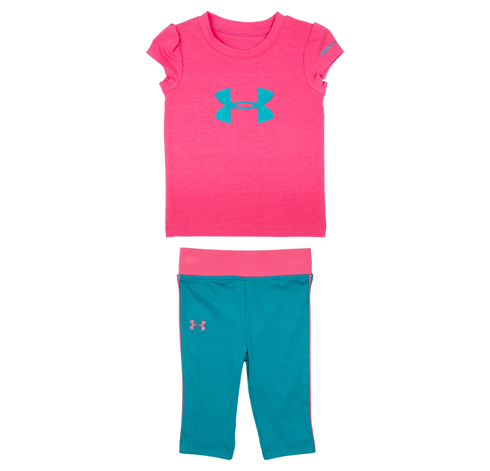 Girls' Infant UA Shatter Icon T-Shirt Set, PINKADELIC, Laydown