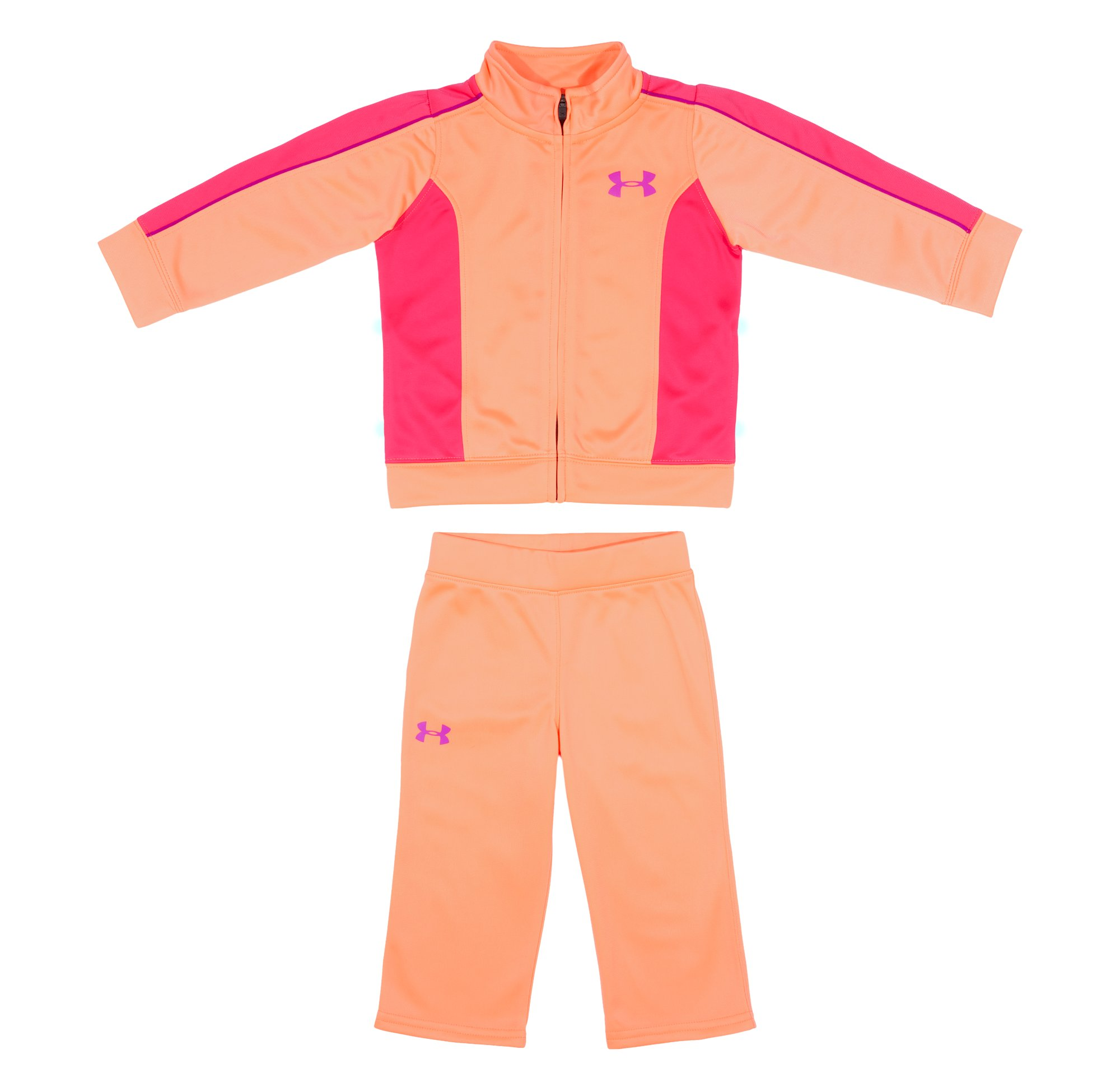 Girls' Infant UA Winter Track Suit, ELECTRIC TANGERINE, Laydown
