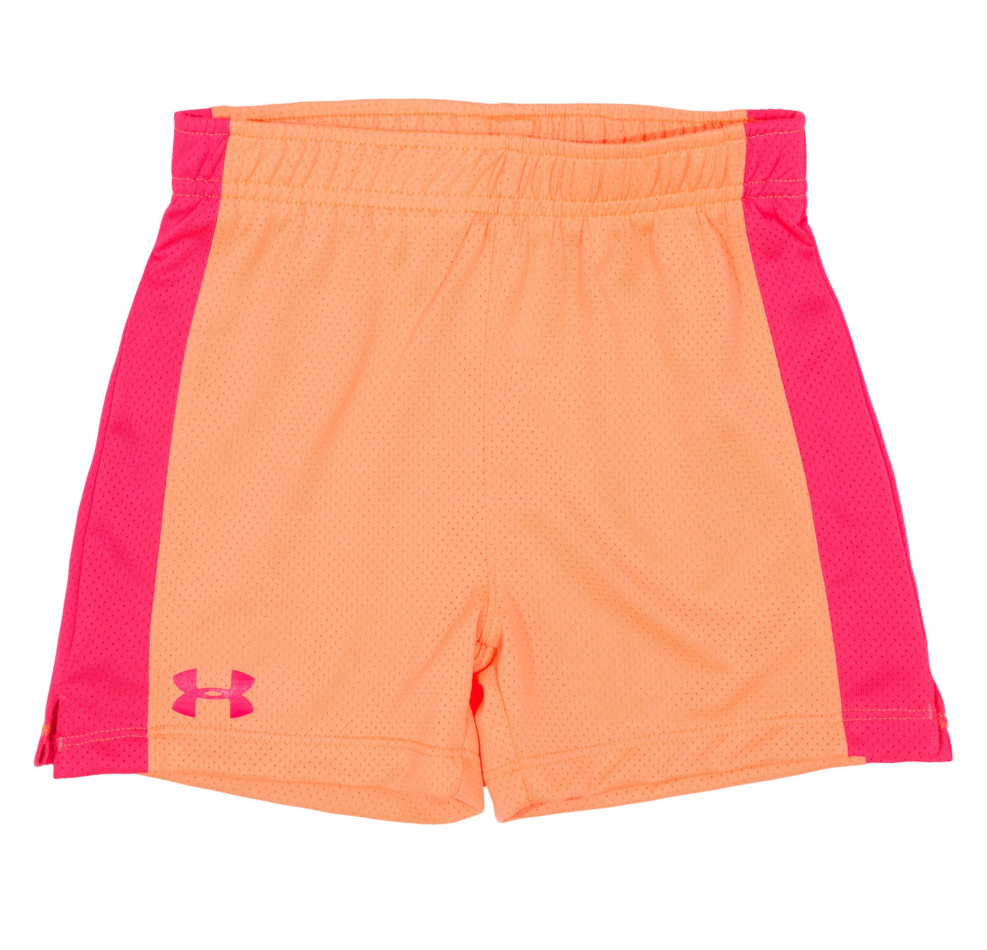 Girls' Infant UA Monster Mesh Shorts, ELECTRIC TANGERINE, Laydown