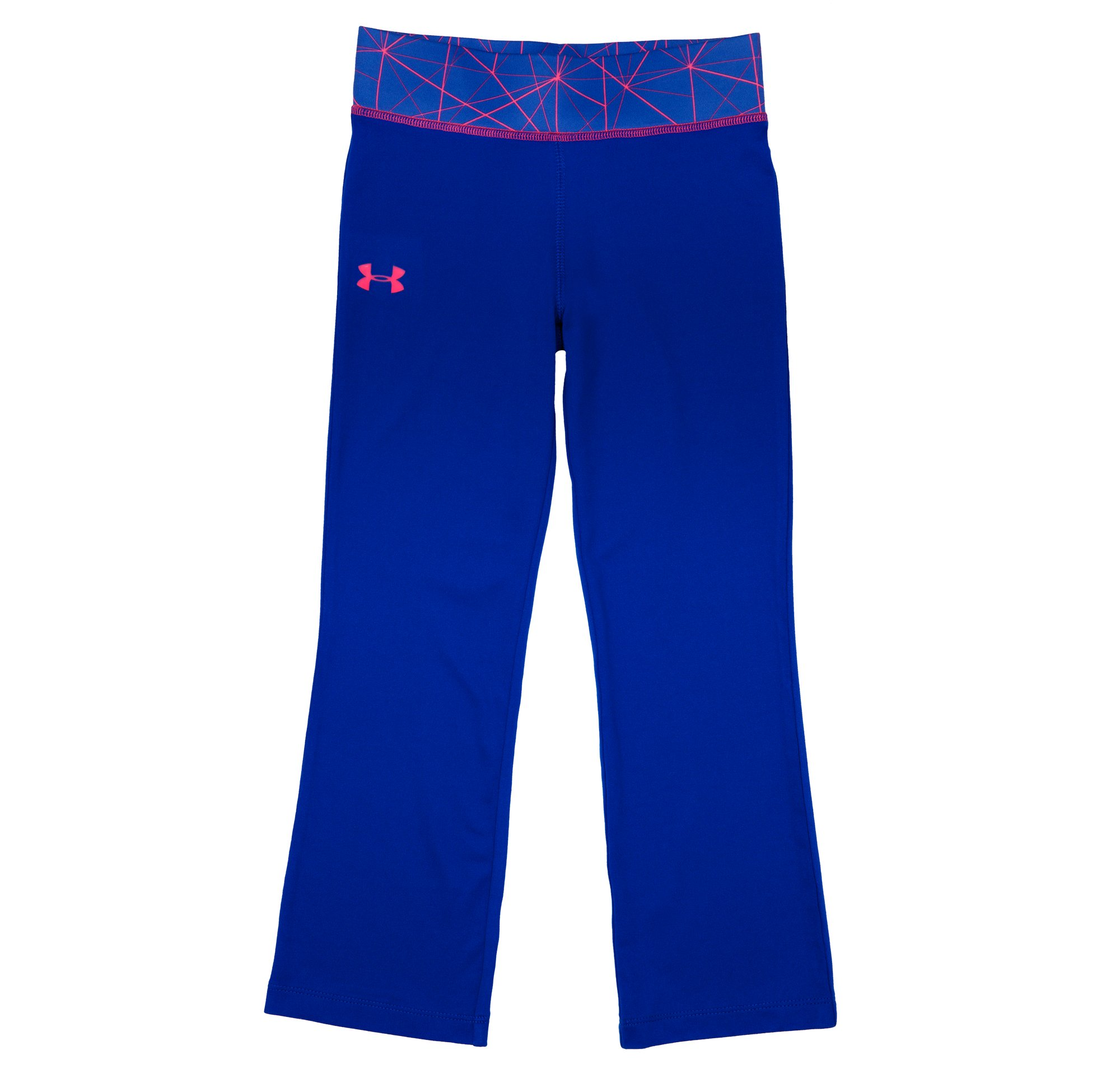 Girls' Infant UA Fold Lines Yoga Pants, BLU-AWAY, Laydown