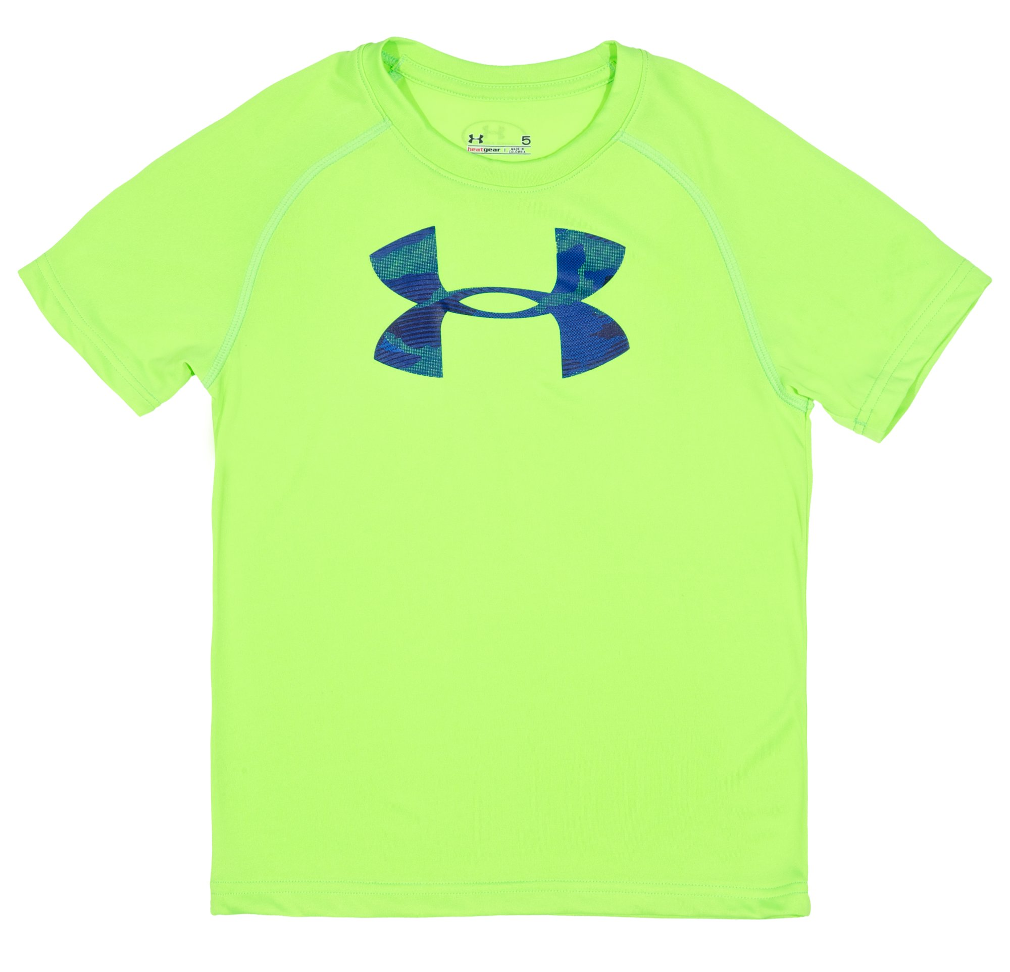 Boys' Infant UA Future Logo T-Shirt, HYPER GREEN, Laydown