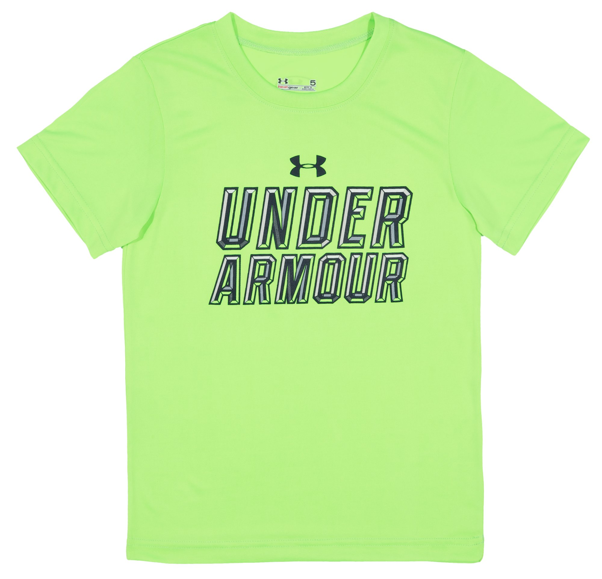 Boys' Infant UA Stained Glass T-Shirt, HYPER GREEN, Laydown