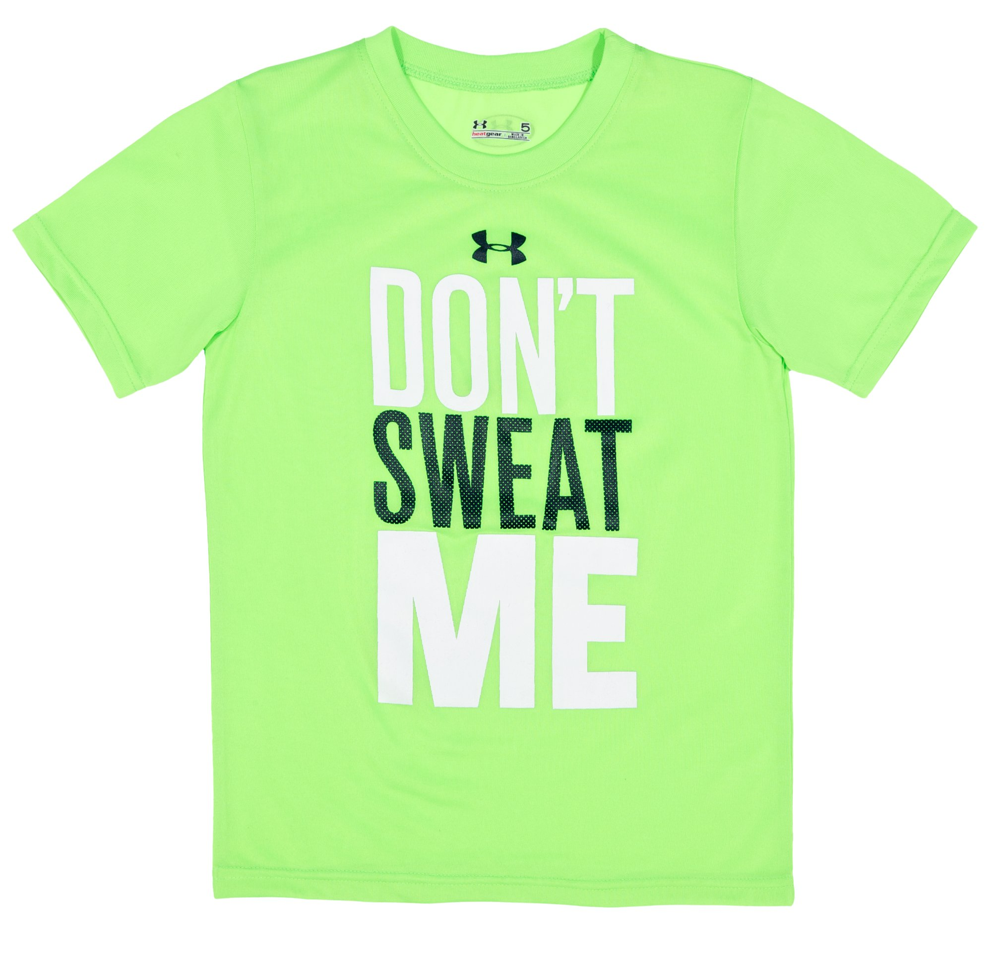 Boys' Infant UA Don't Sweat Me T-Shirt, HYPER GREEN, Laydown