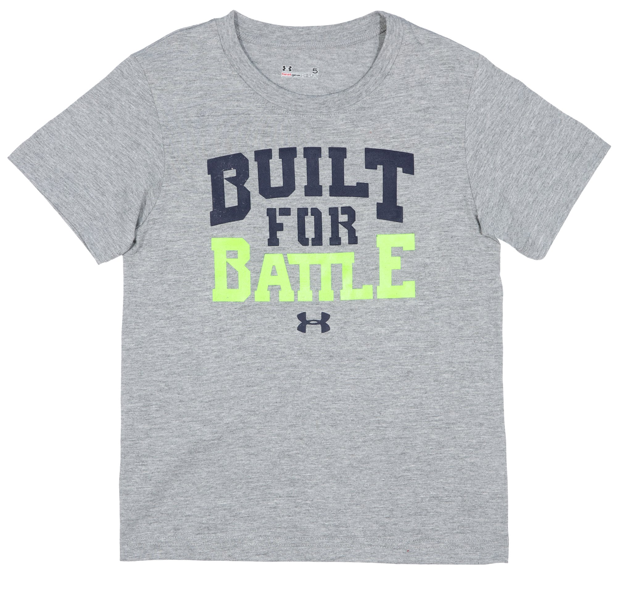 Boys' Infant UA Built For Battle T-Shirt, True Gray Heather, Laydown
