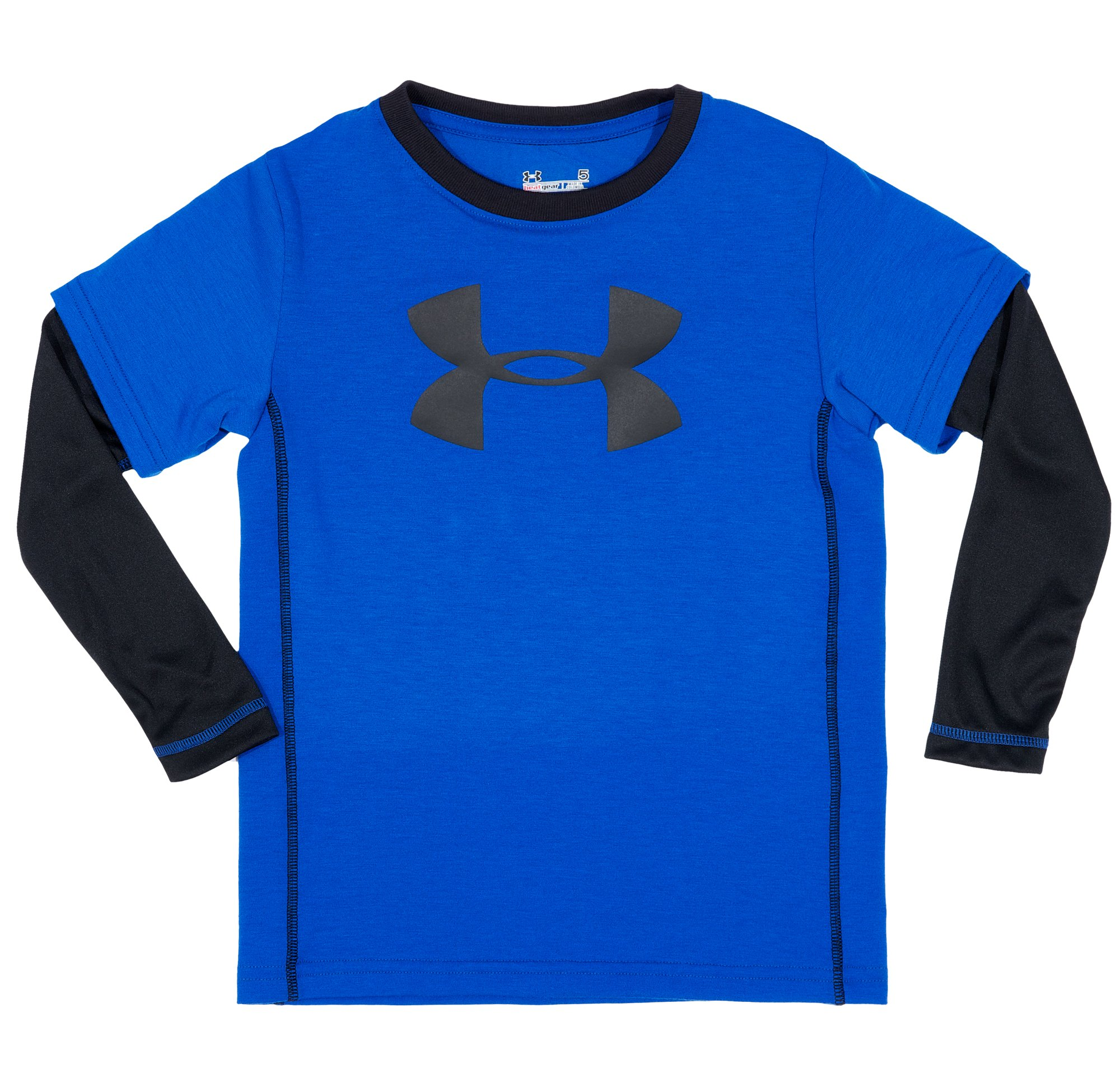 Boys' Infant UA Big Logo Long Sleeve, Royal, Laydown