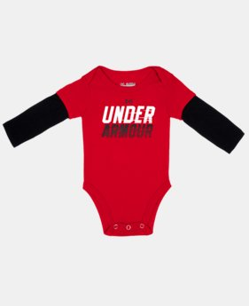 Boys' Newborn UA Light Speed Long Sleeve Bodysuit