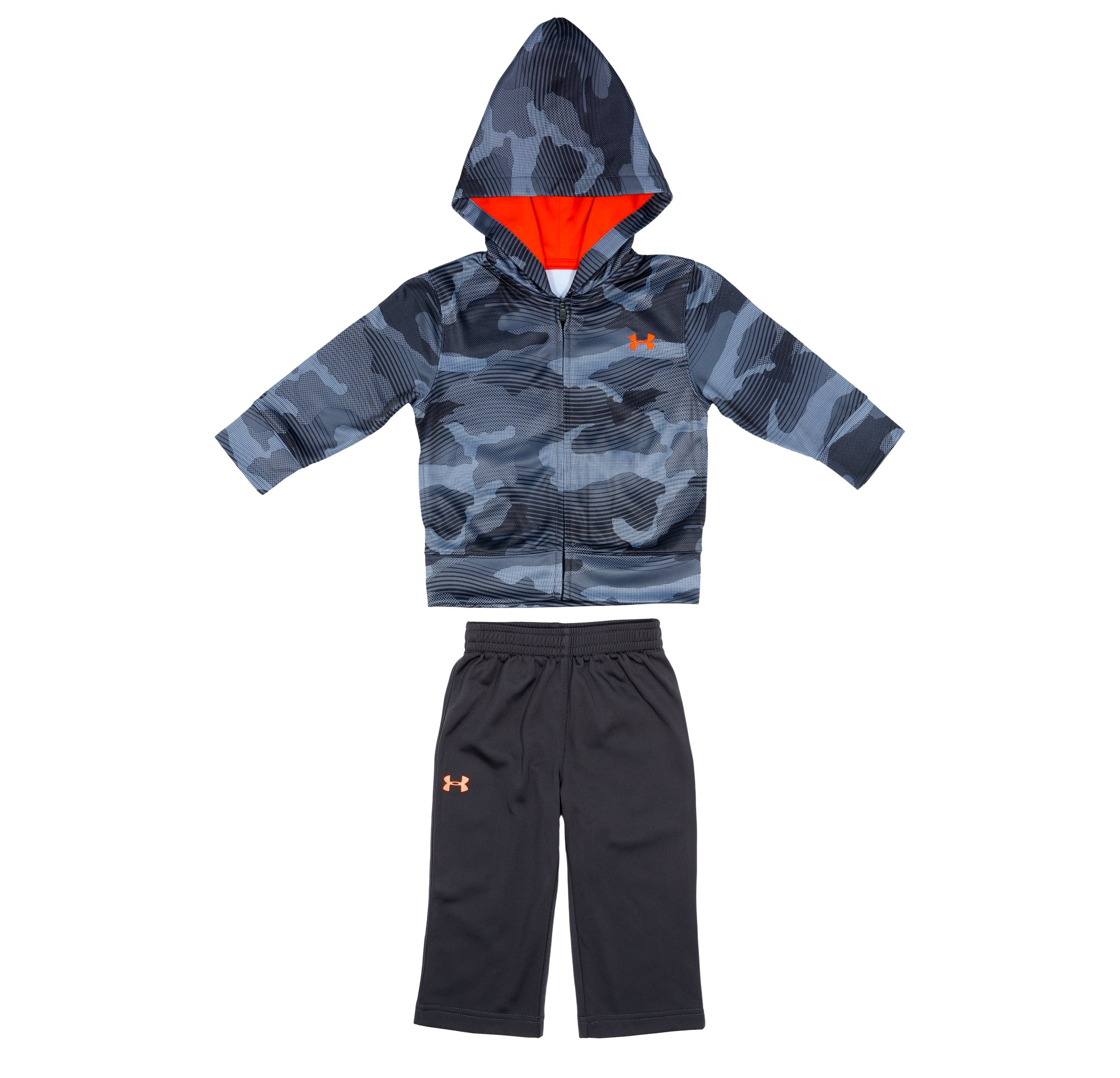 Boys' Newborn UA Future Camo Print Hoodie 2-Piece Set, Mechanic Blue, Laydown