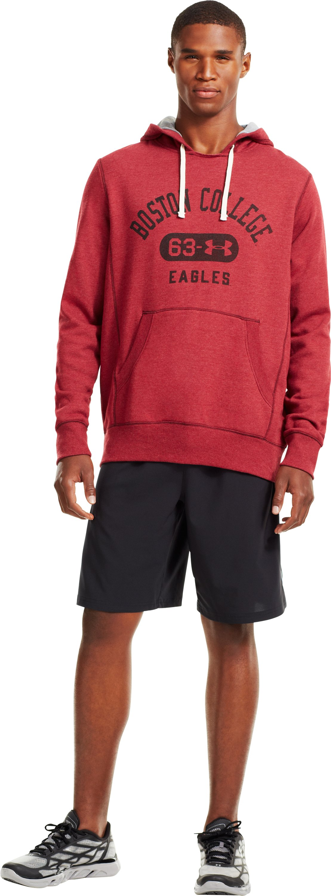 Men's Boston College Under Armour® Legacy Hoodie, Cardinal, Front