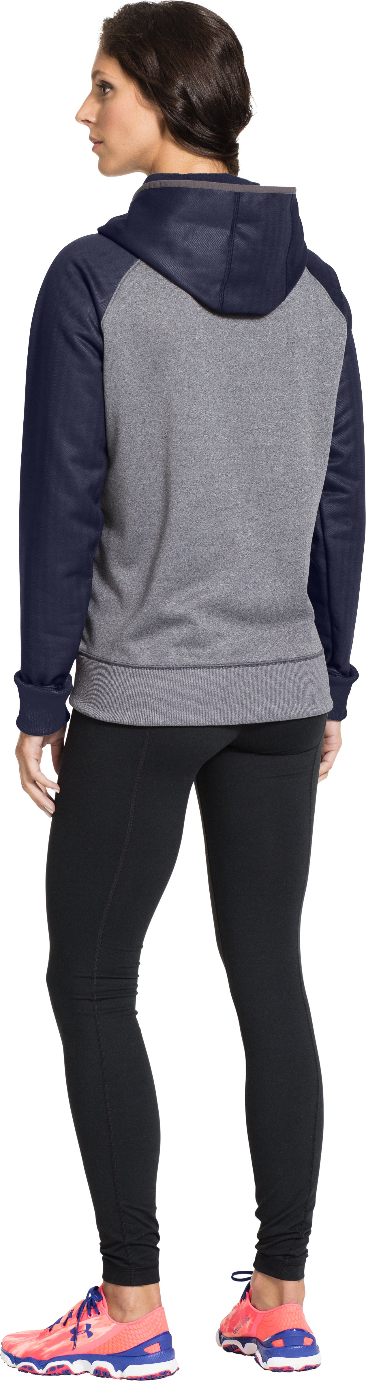 Women's UA Storm Armour® Fleece Hoodie, Carbon Heather, Back