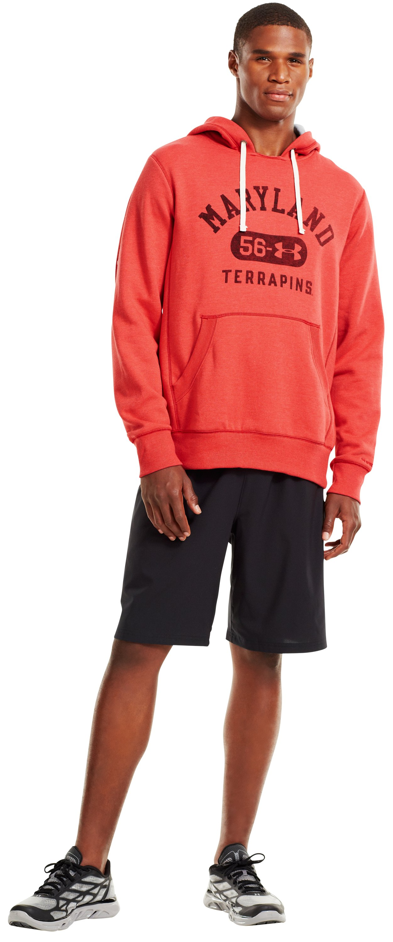 Men's Maryland Under Armour® Legacy Hoodie, Red, Front