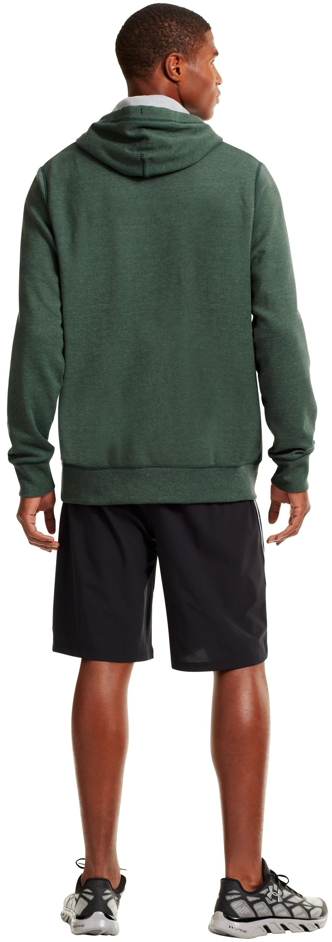 Men's South Florida Under Armour® Legacy Hoodie, Forest Green, Back