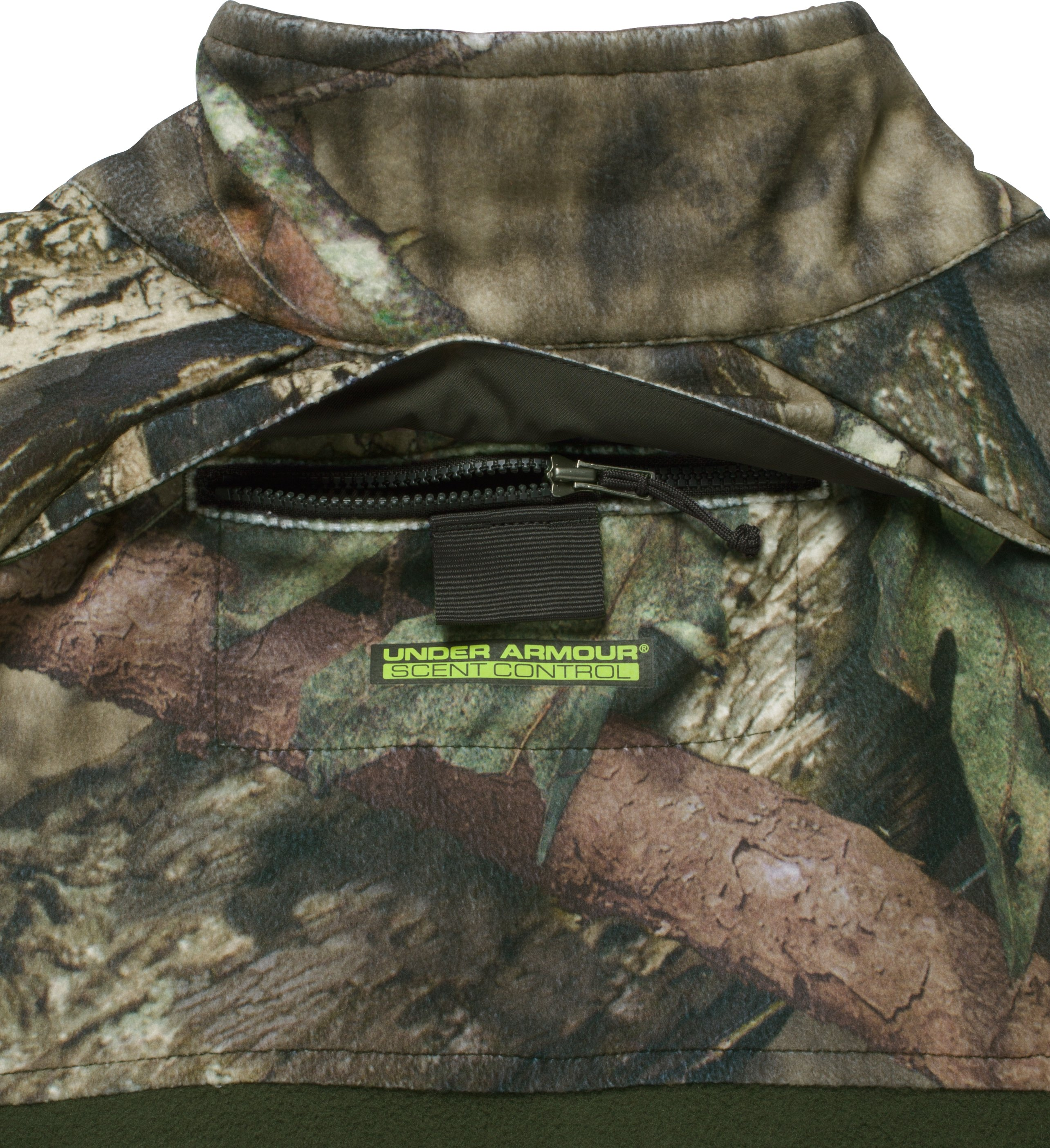 Men's UA ColdGear® Infrared Scent Control Rut Jacket, MOSSY OAK BREAK UP COUNTRY