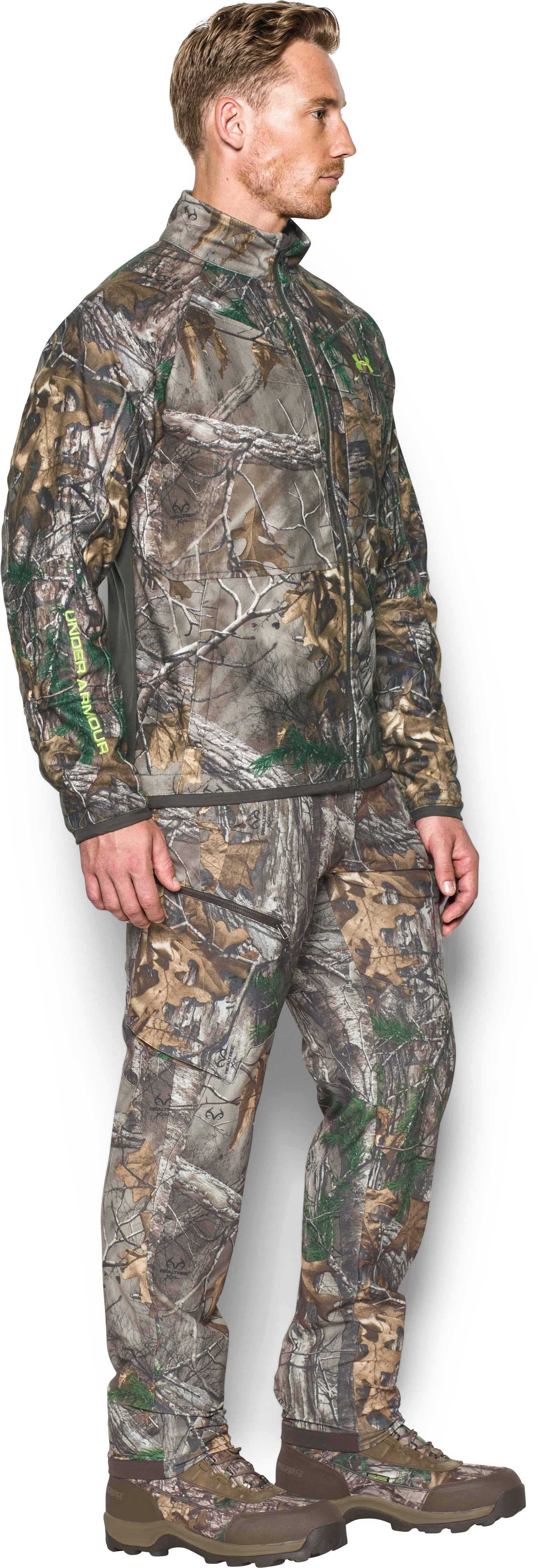Men's UA ColdGear® Infrared Scent Control Rut Jacket, REALTREE AP-XTRA, undefined