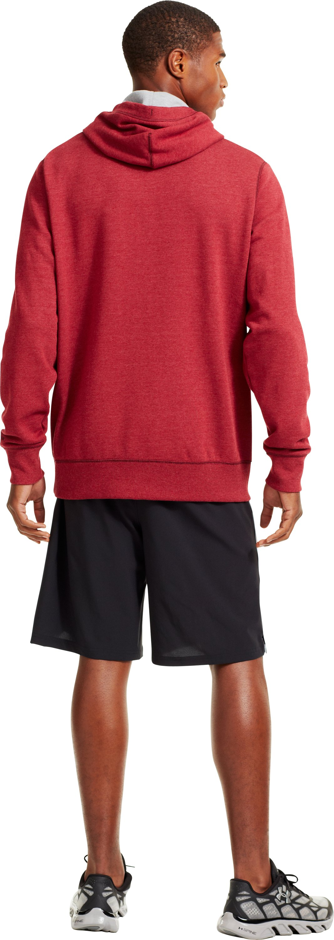 Men's Temple Under Armour® Legacy Hoodie, Cardinal, Back