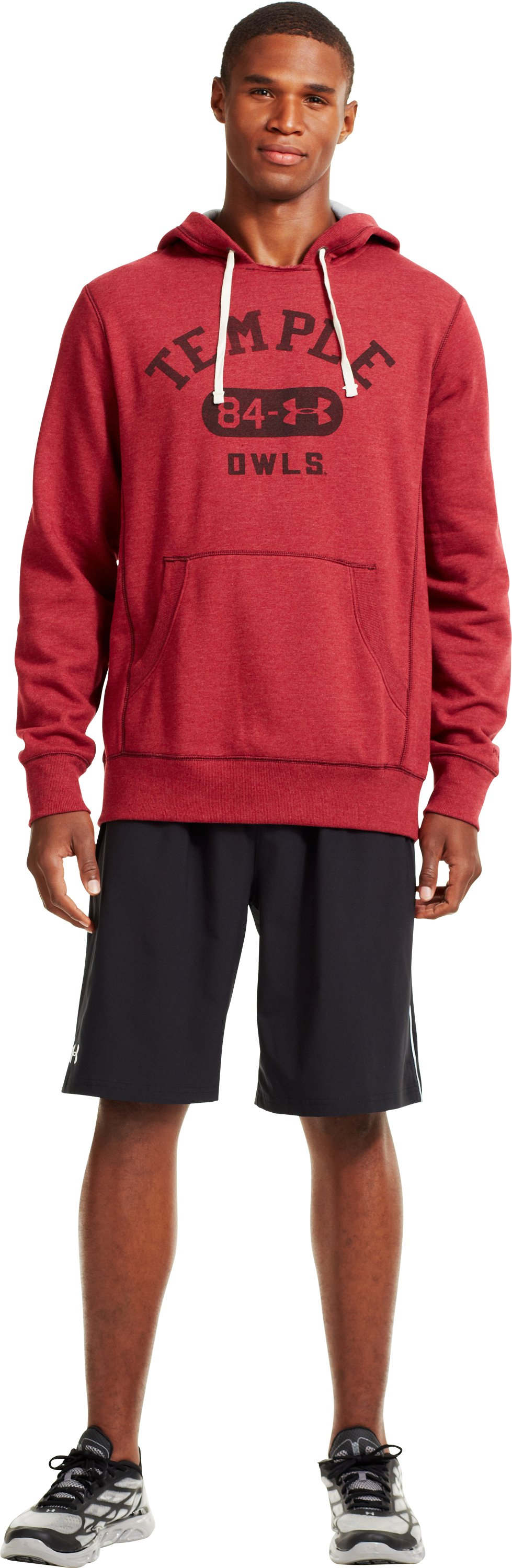 Men's Temple Under Armour® Legacy Hoodie, Cardinal, Front