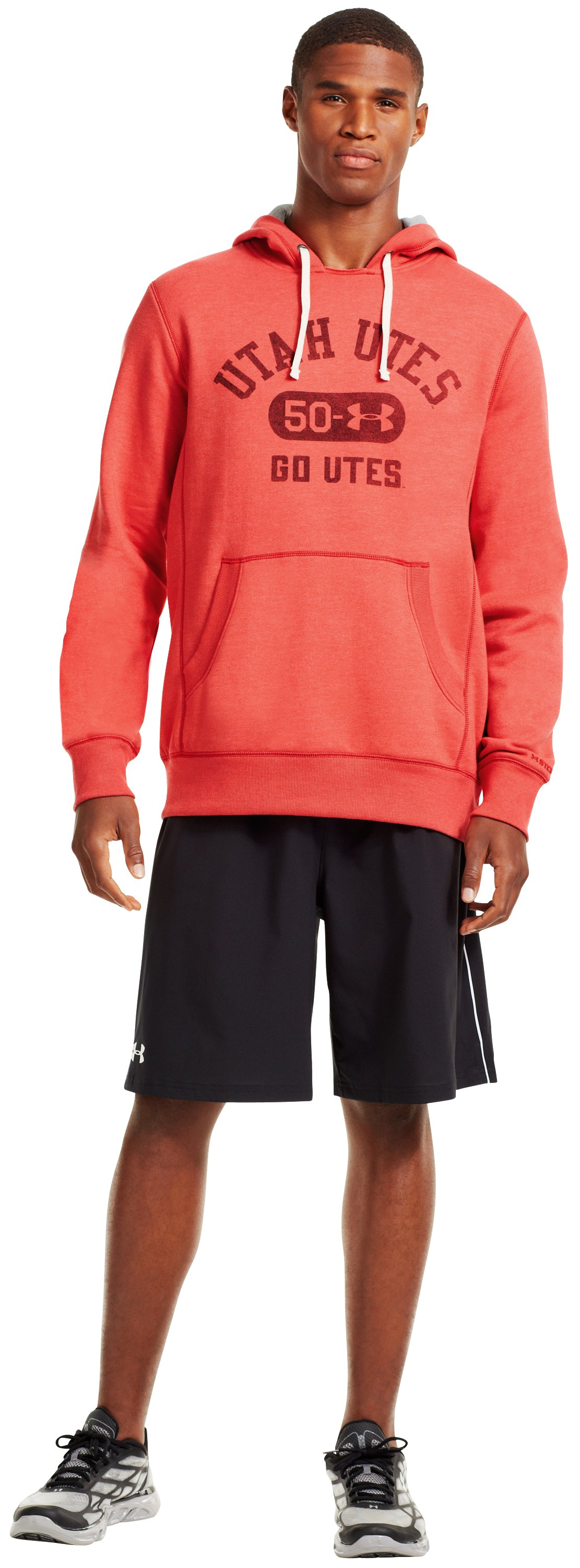 Men's Utah Under Armour® Legacy Hoodie, Red, Front