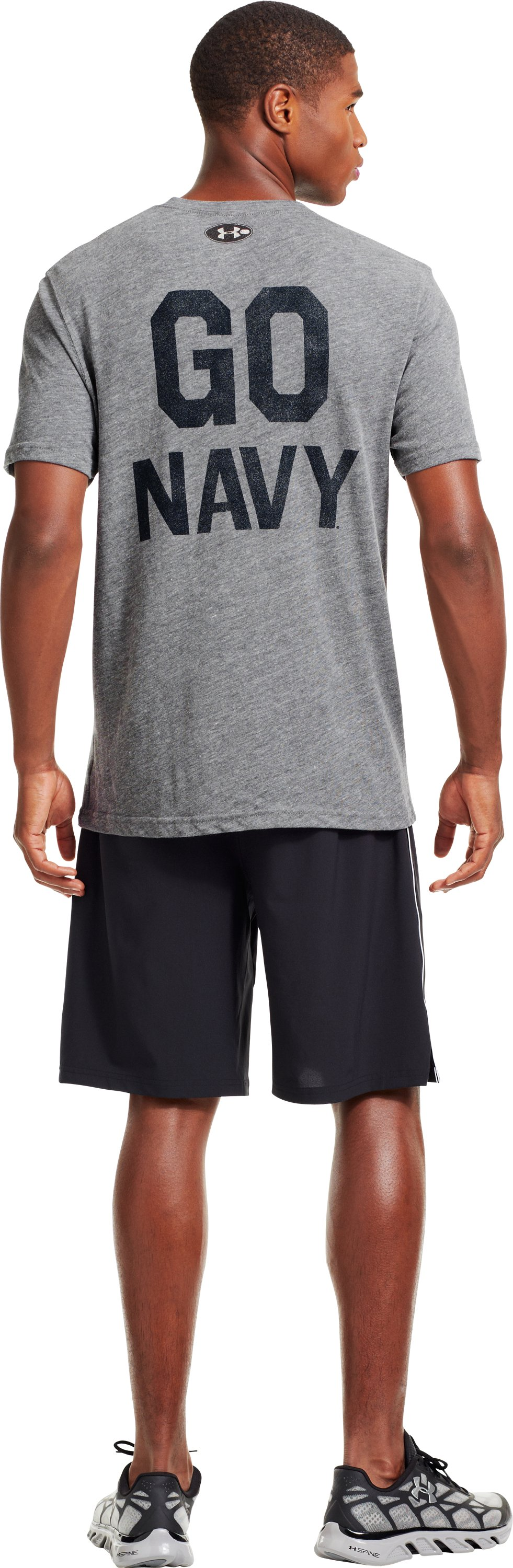 Men's Naval Academy Under Armour® Legacy T-Shirt, Gray
