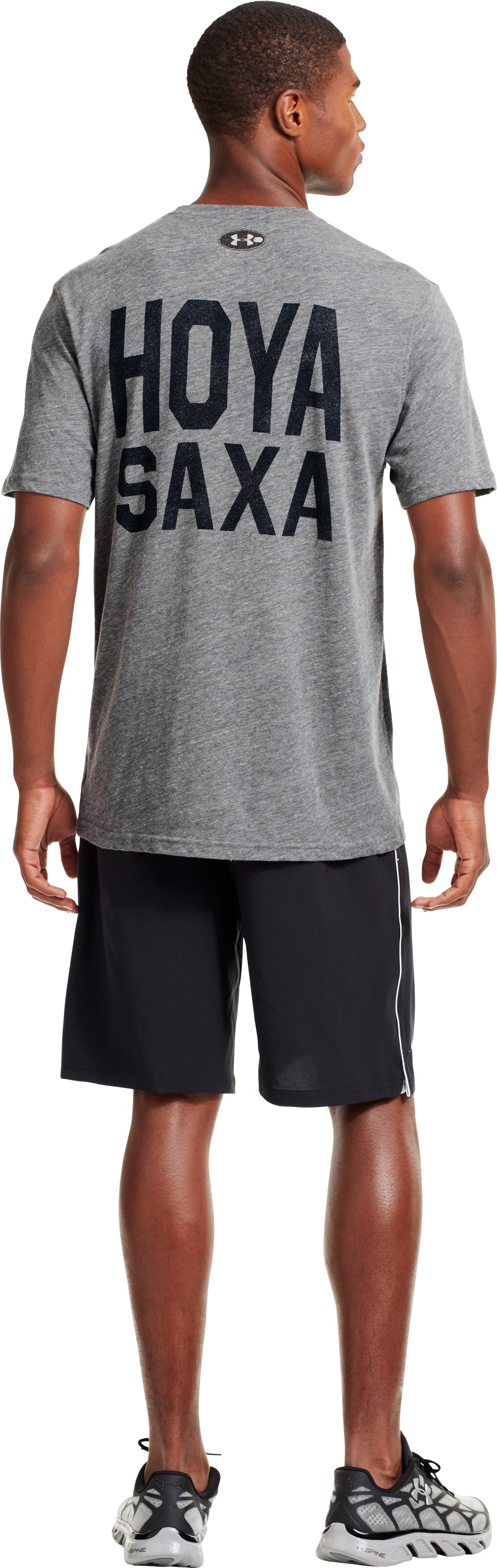 Men's Georgetown Under Armour® Legacy T-Shirt, Gray, Back