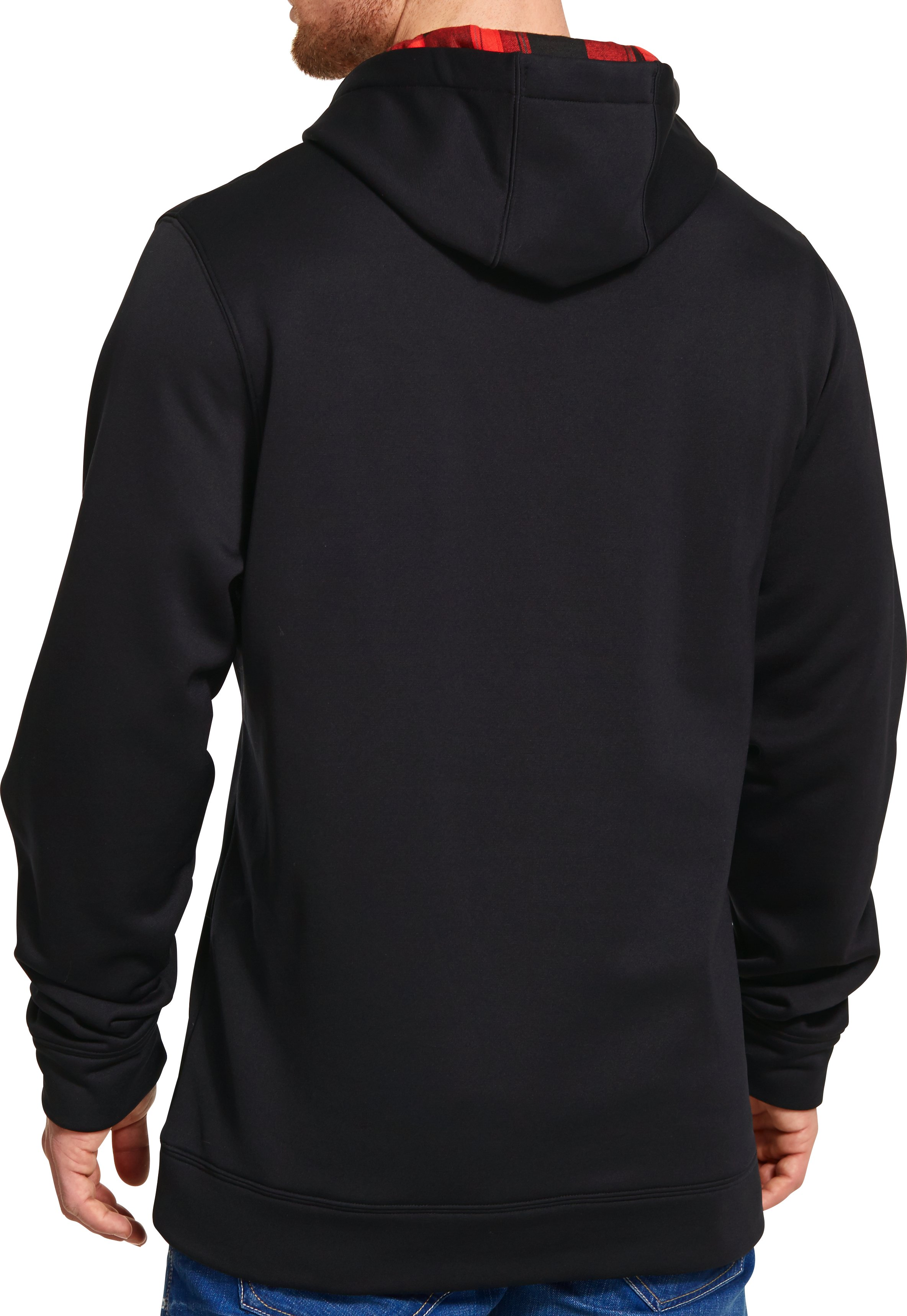 Men's UA Storm Caliber Big Logo Hoodie, Black , Back