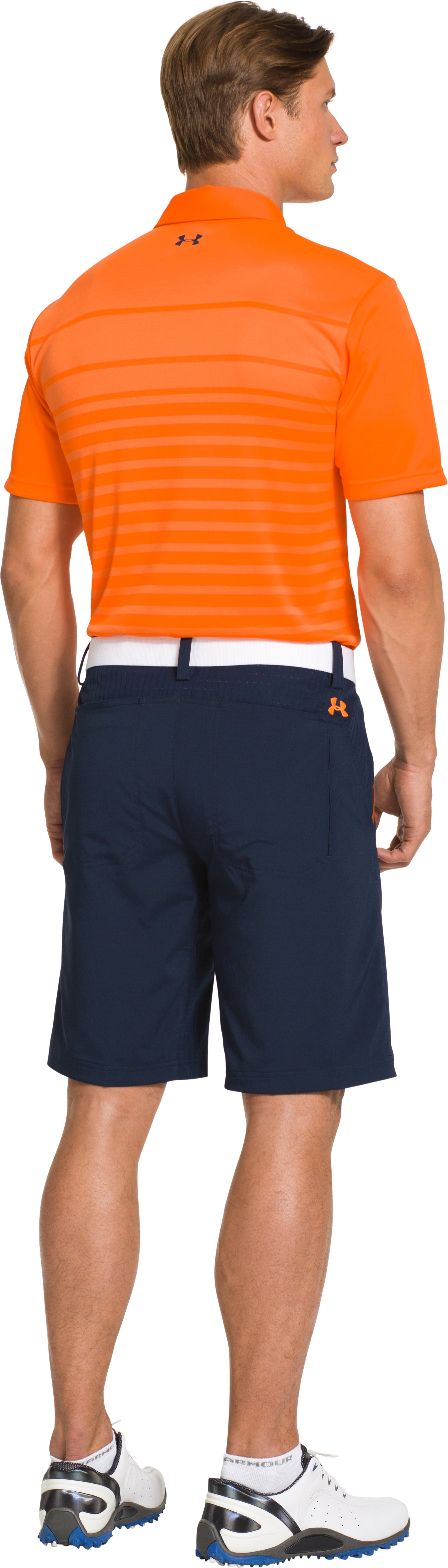 Men's UA Front9 Jacquard Polo, Blaze Orange, Back