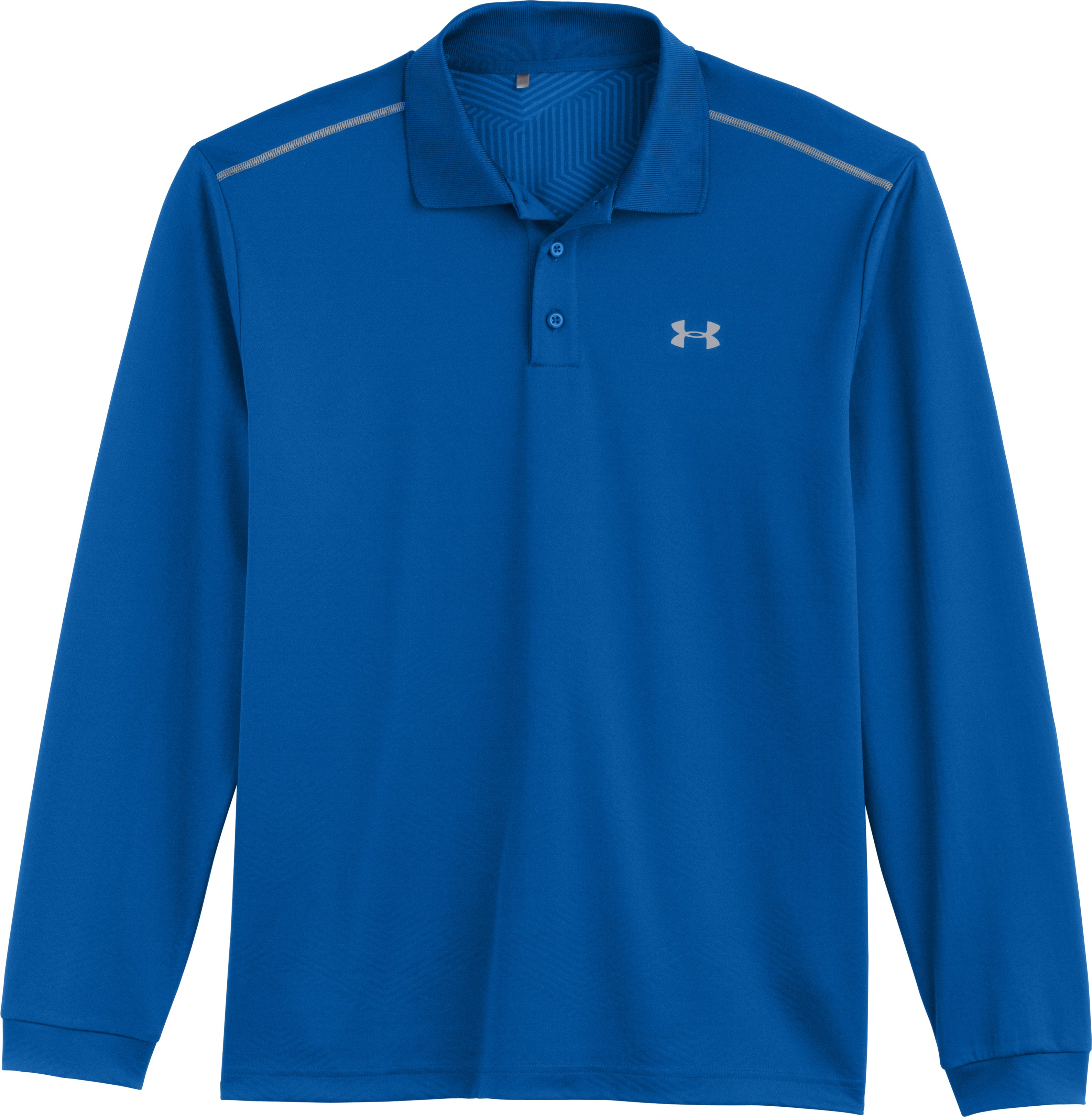Men's UA ColdGear® Infrared Performance Long Sleeve Polo, SCATTER, Laydown