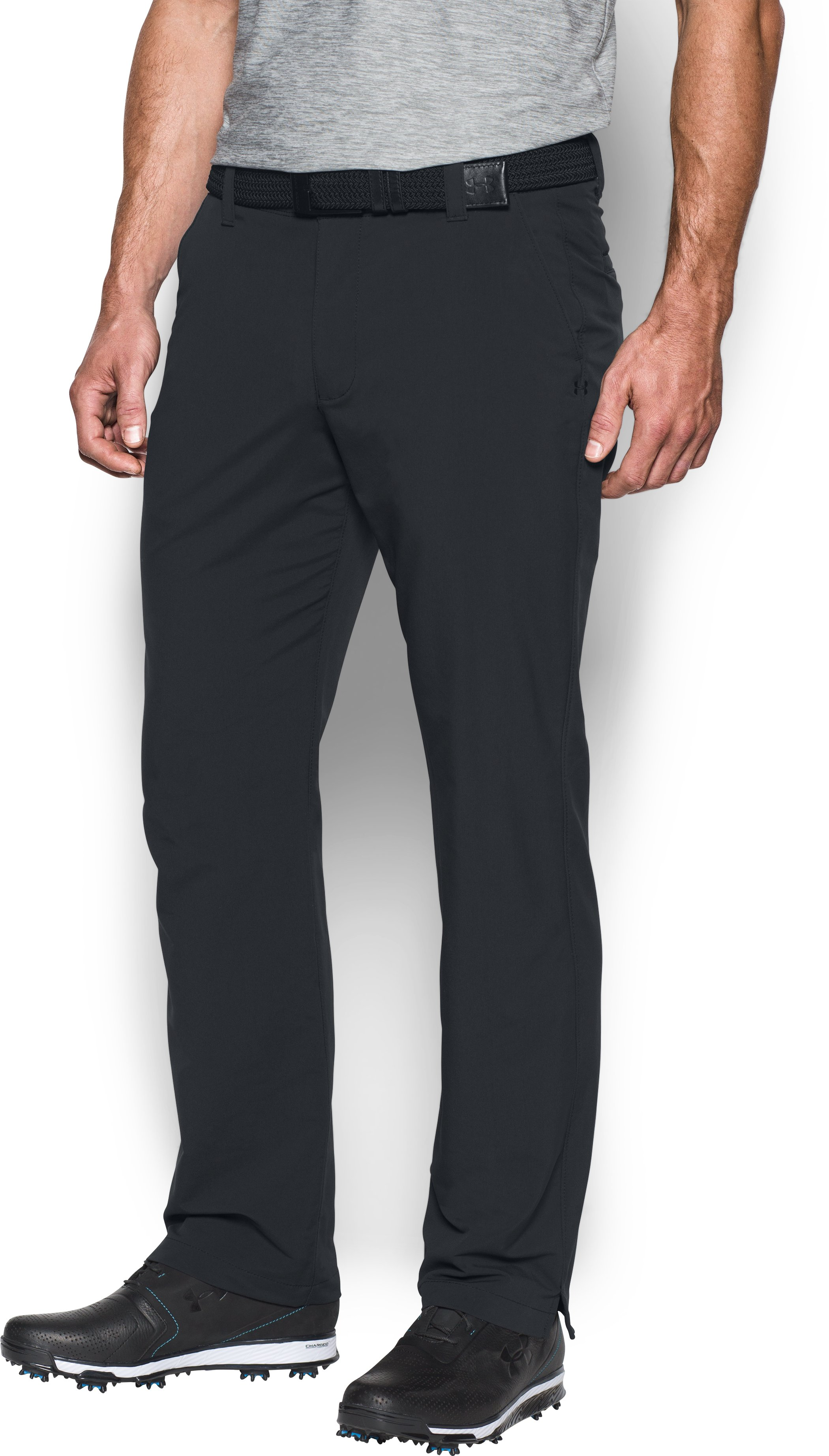 Men's UA Match Play Golf Pants, Black , undefined