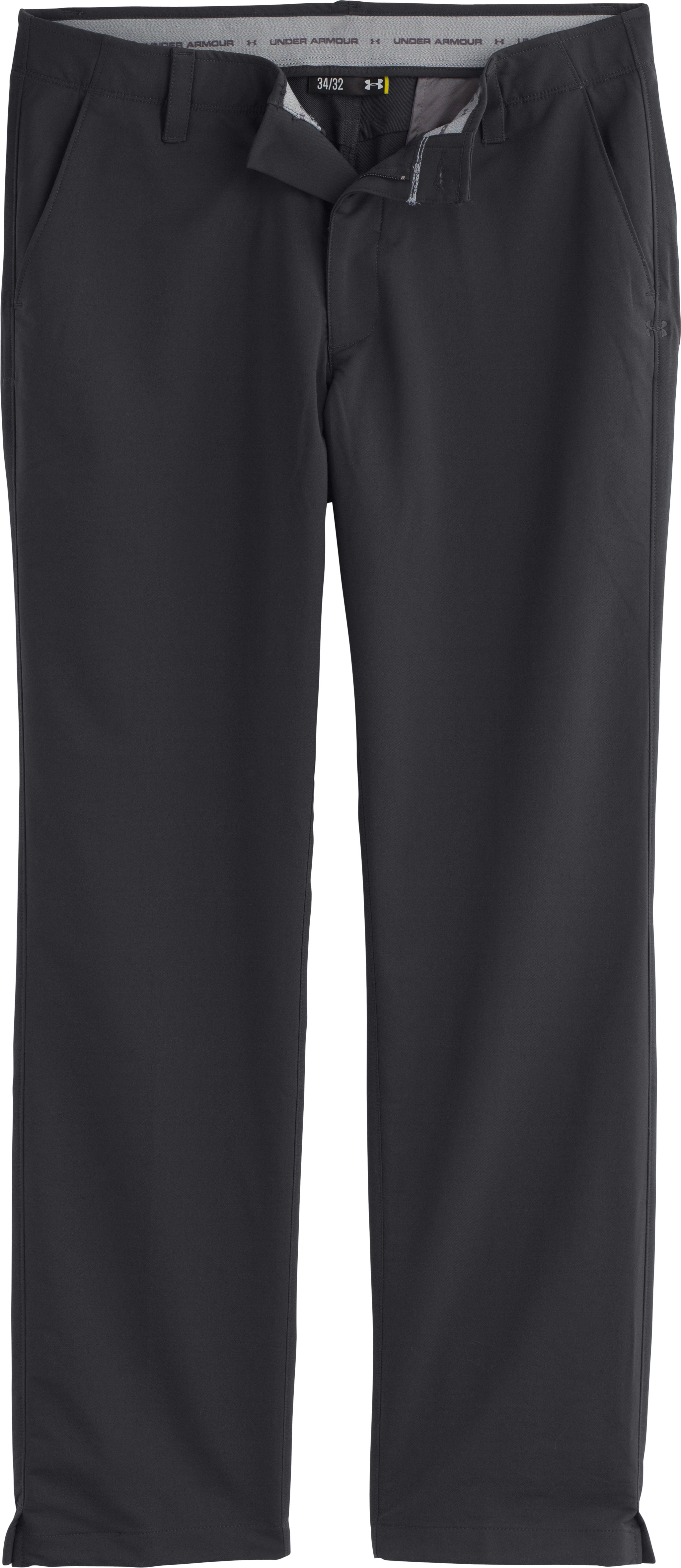 Men's UA Match Play Golf Pants – Straight Leg, Black , Laydown