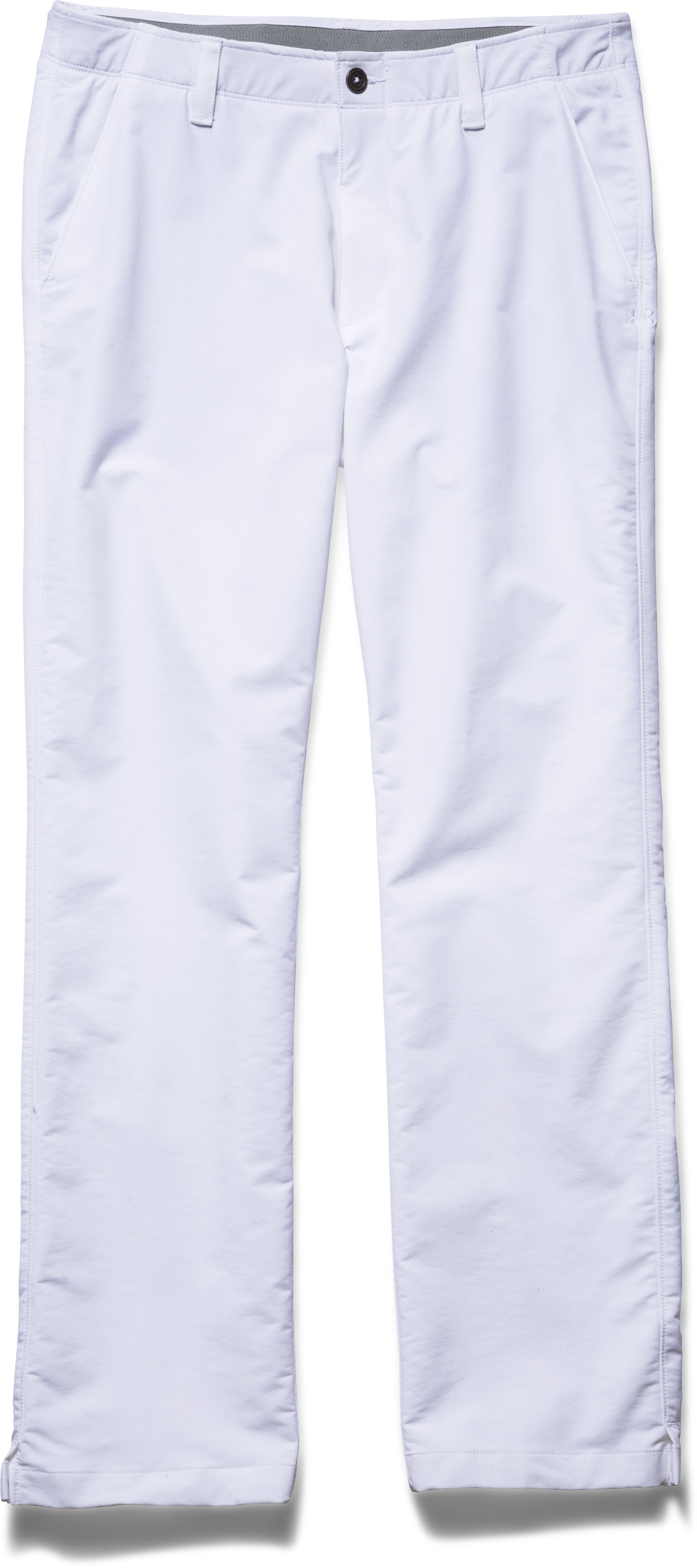 Men's UA Match Play Golf Pants – Straight Leg, White, Laydown