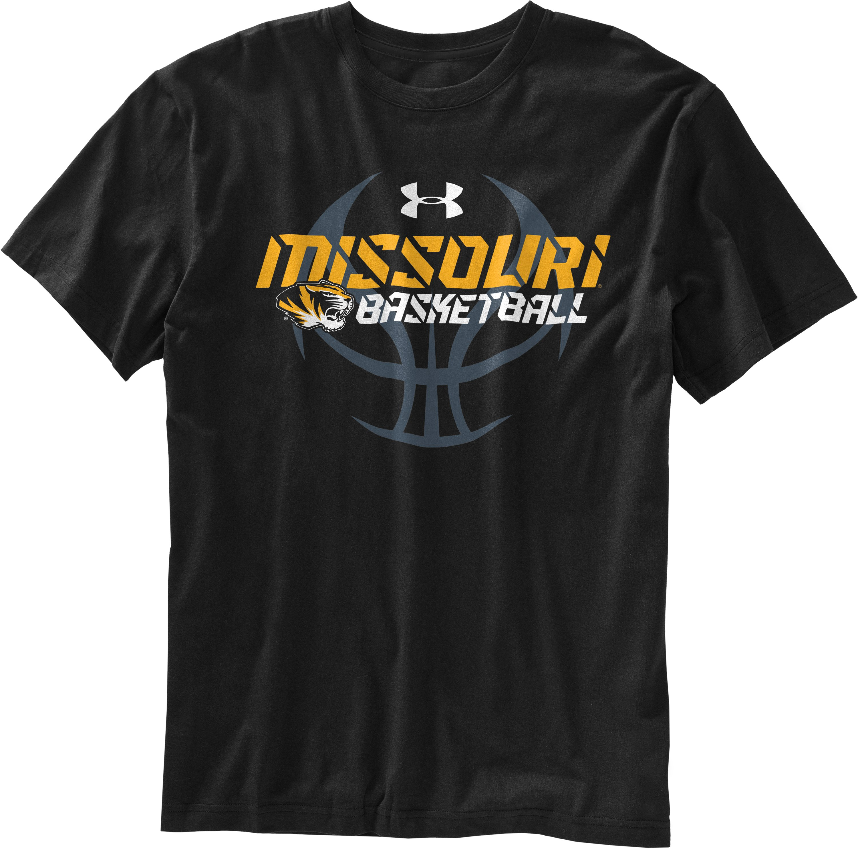 Men's Mizzou UA Basketball T-Shirt, Black , Laydown