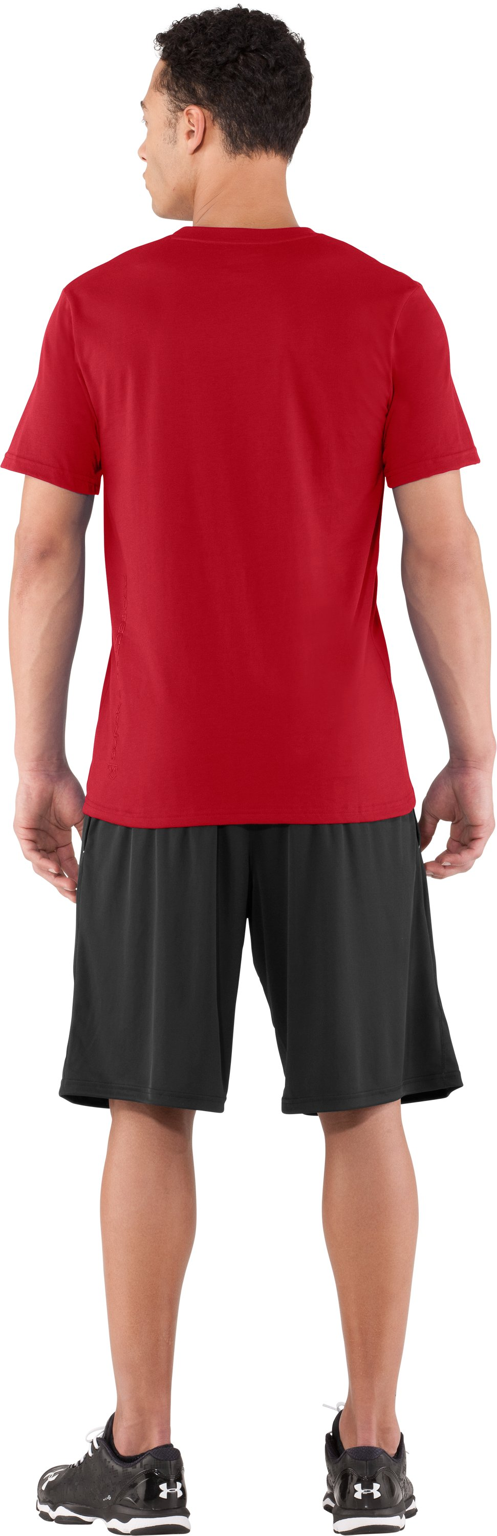 Men's NC State UA Basketball T-Shirt, Red, Back