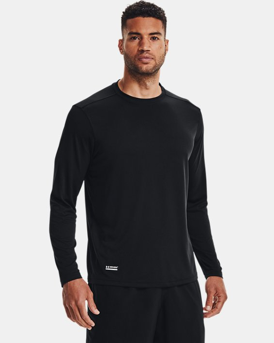 Men's Tactical UA Tech™ Long Sleeve T-Shirt, Black, pdpMainDesktop image number 2